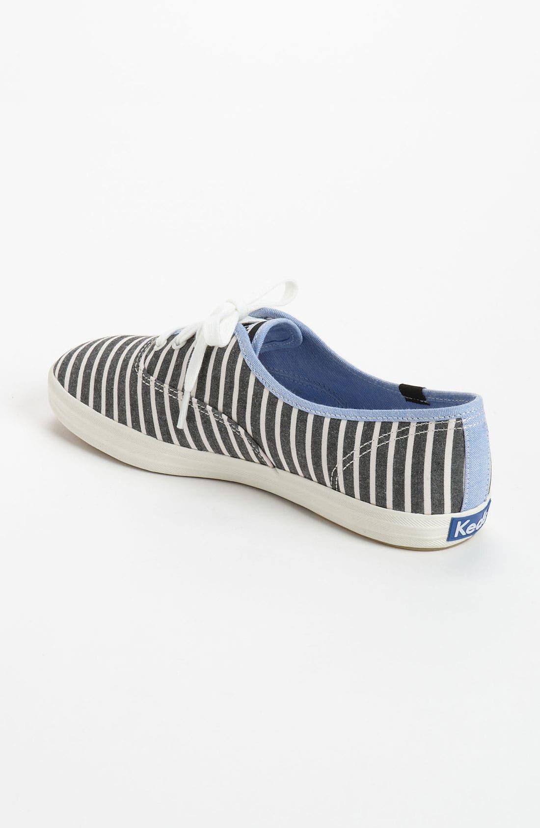 'Champion Prep Stripe' Sneaker,                             Alternate thumbnail 2, color,                             001