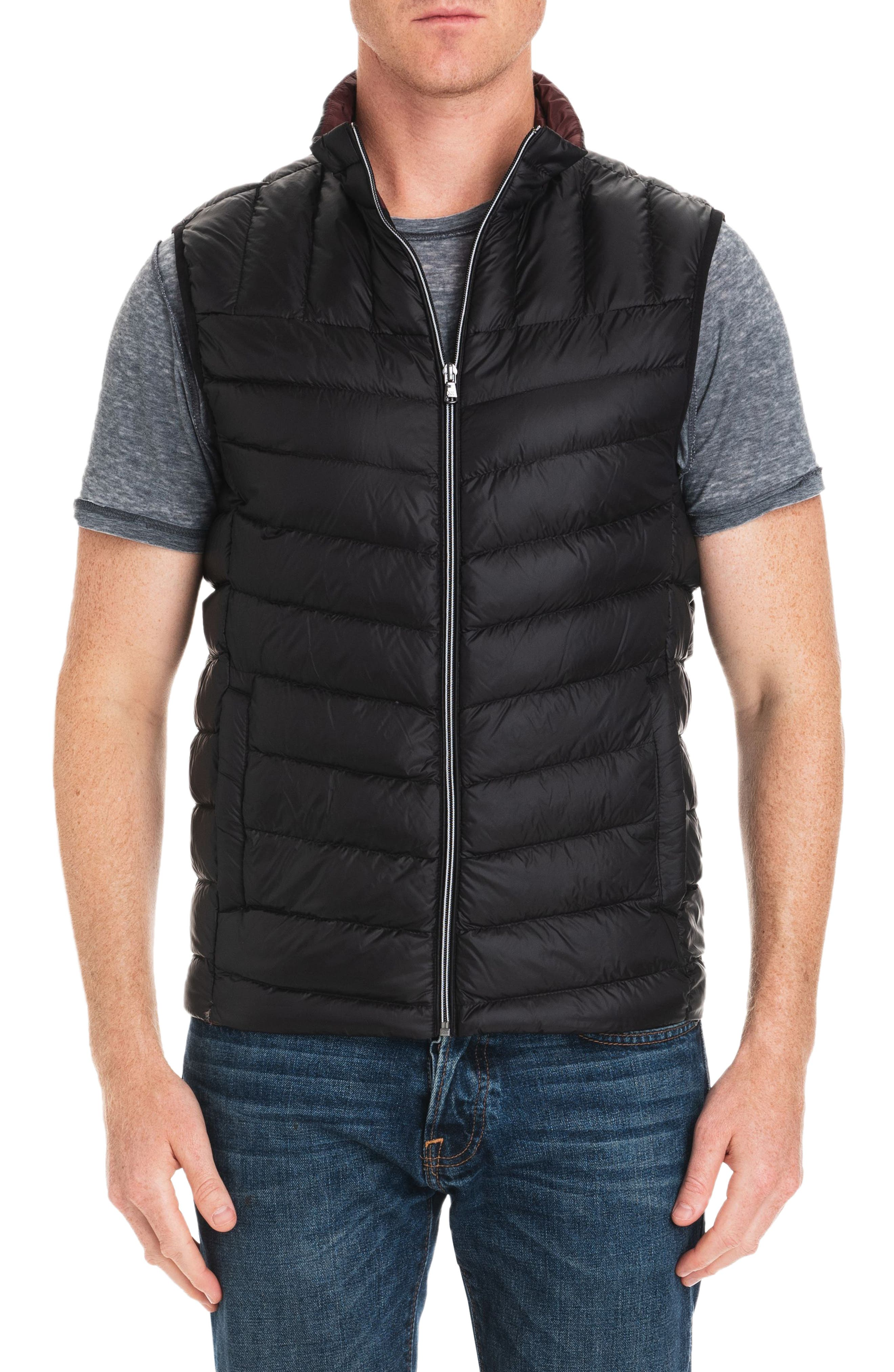 Hammond Quilted Vest,                         Main,                         color, BLACK