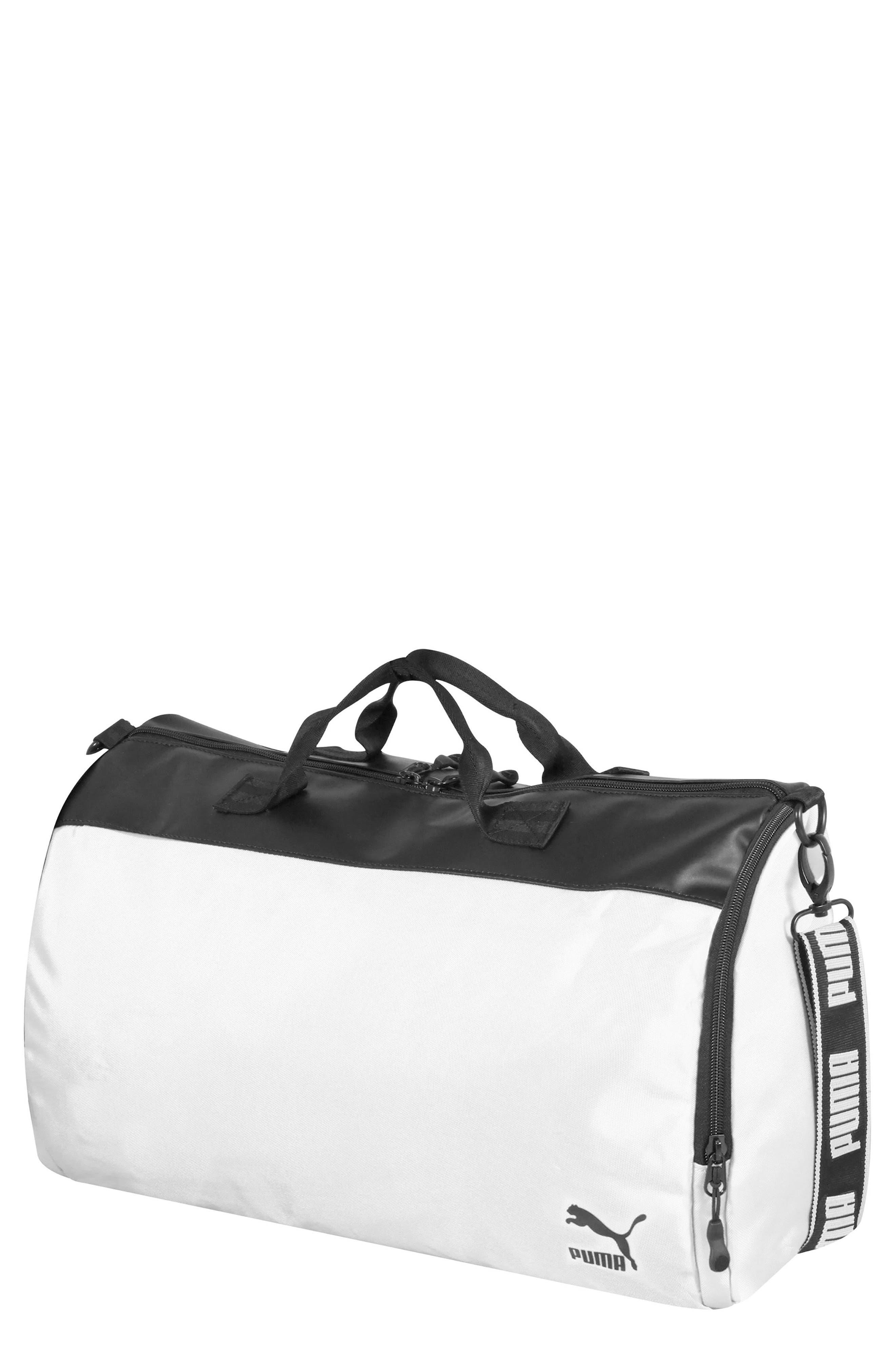 Archive Duffel Bag,                         Main,                         color, BLACK/ WHITE