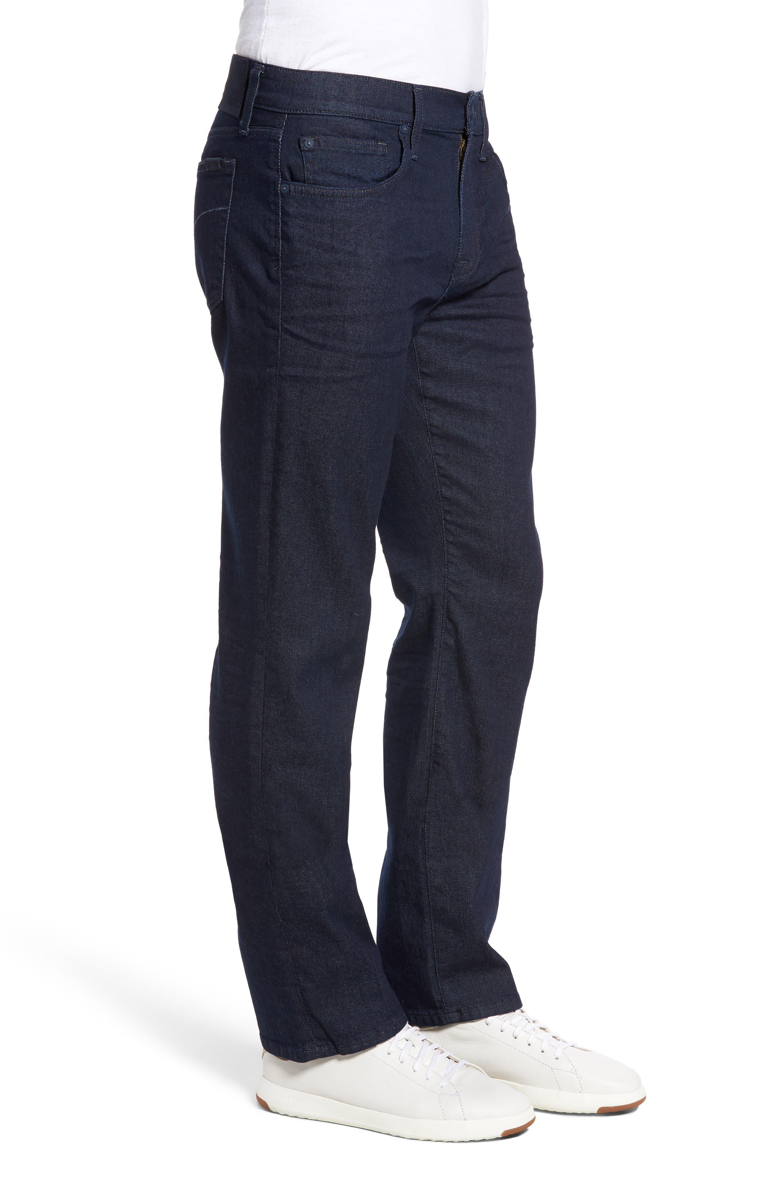 Classic Straight Fit Jeans,                             Alternate thumbnail 3, color,                             403