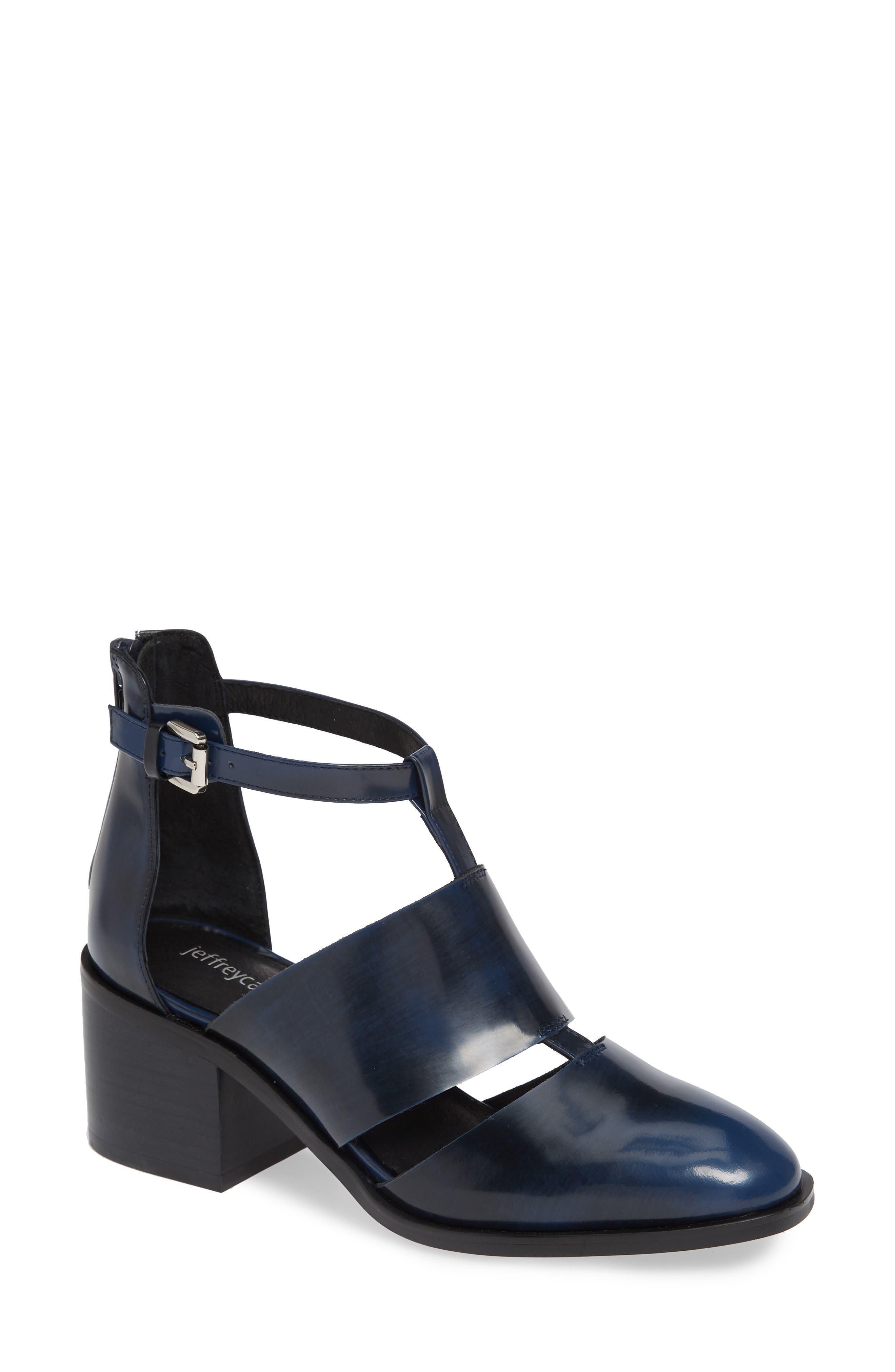 'Melina' T-Strap Shoe,                         Main,                         color, NAVY RUB OFF