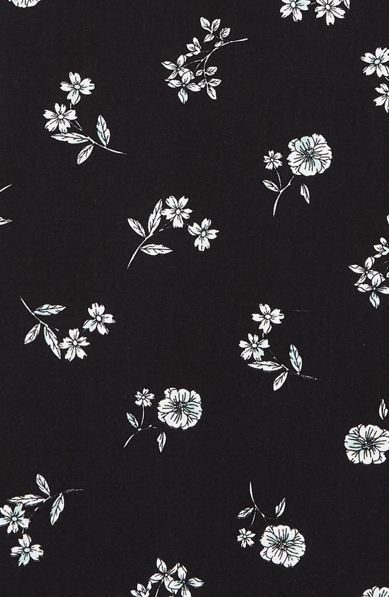 Floral Sleeveless Shift Dress,                             Alternate thumbnail 3, color,                             001