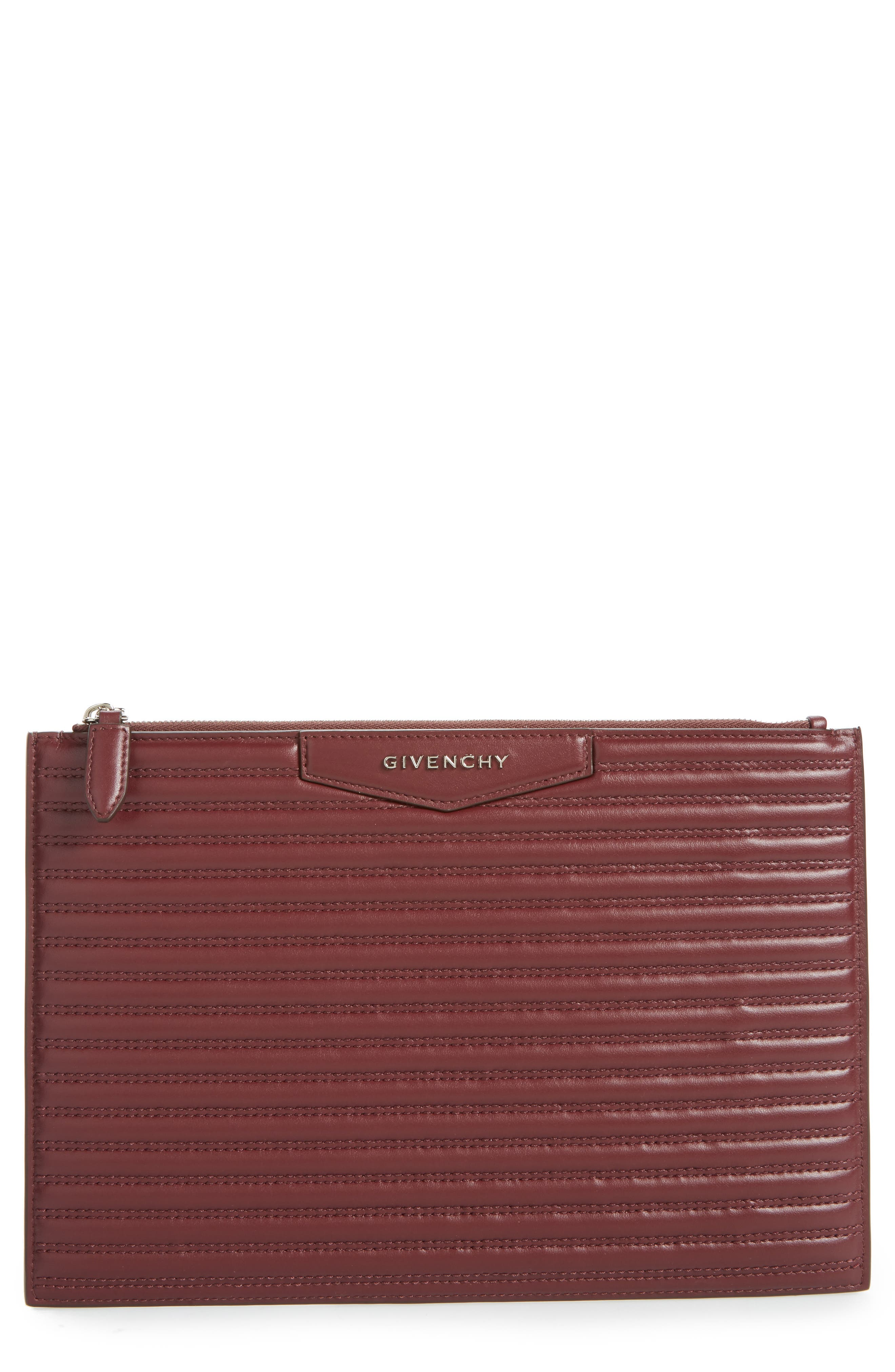 Antigona Quilted Leather Pouch,                             Main thumbnail 1, color,                             642
