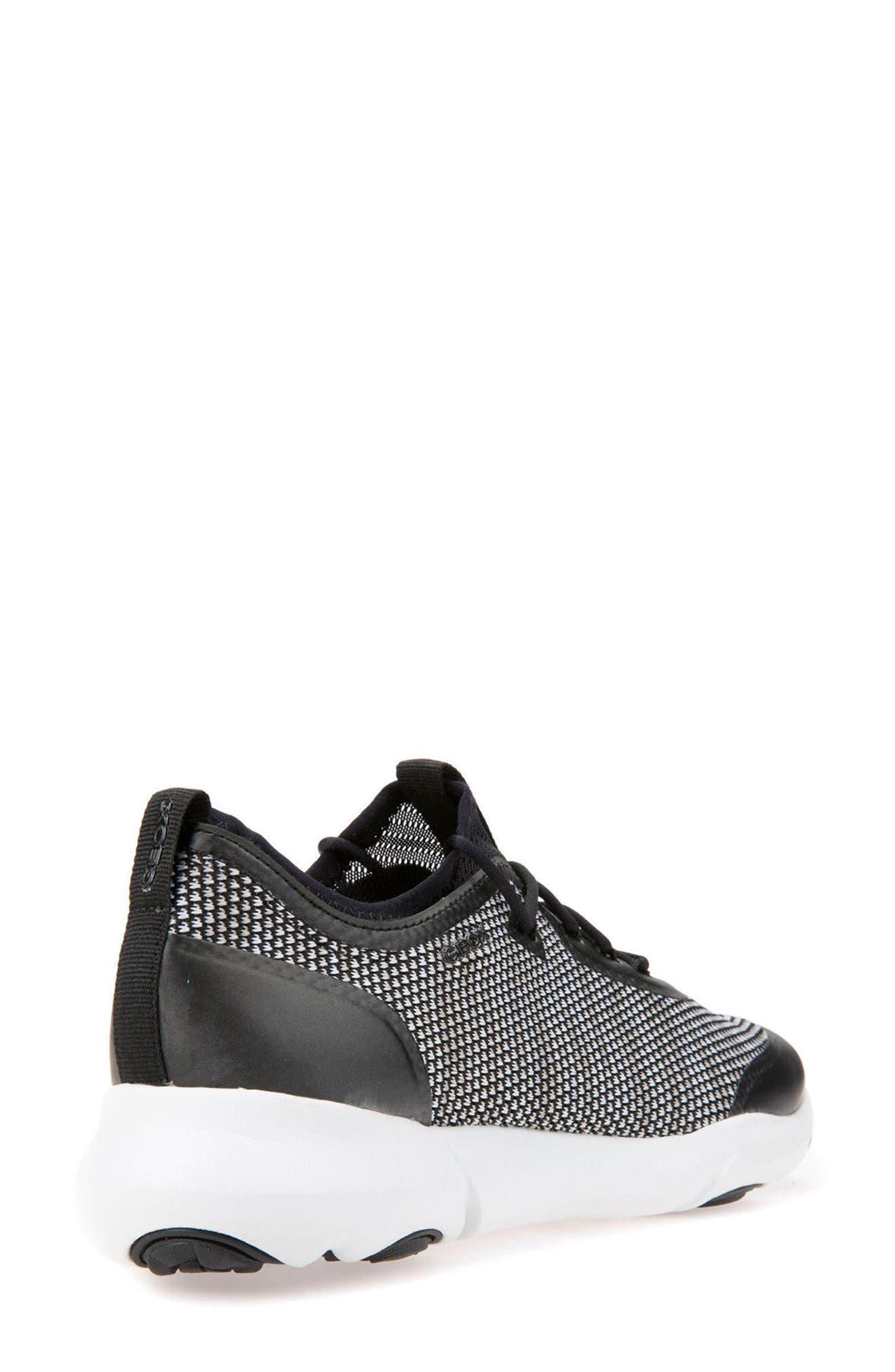 Nebula X Knit Sneaker,                             Alternate thumbnail 2, color,                             BLACK/ WHITE LEATHER