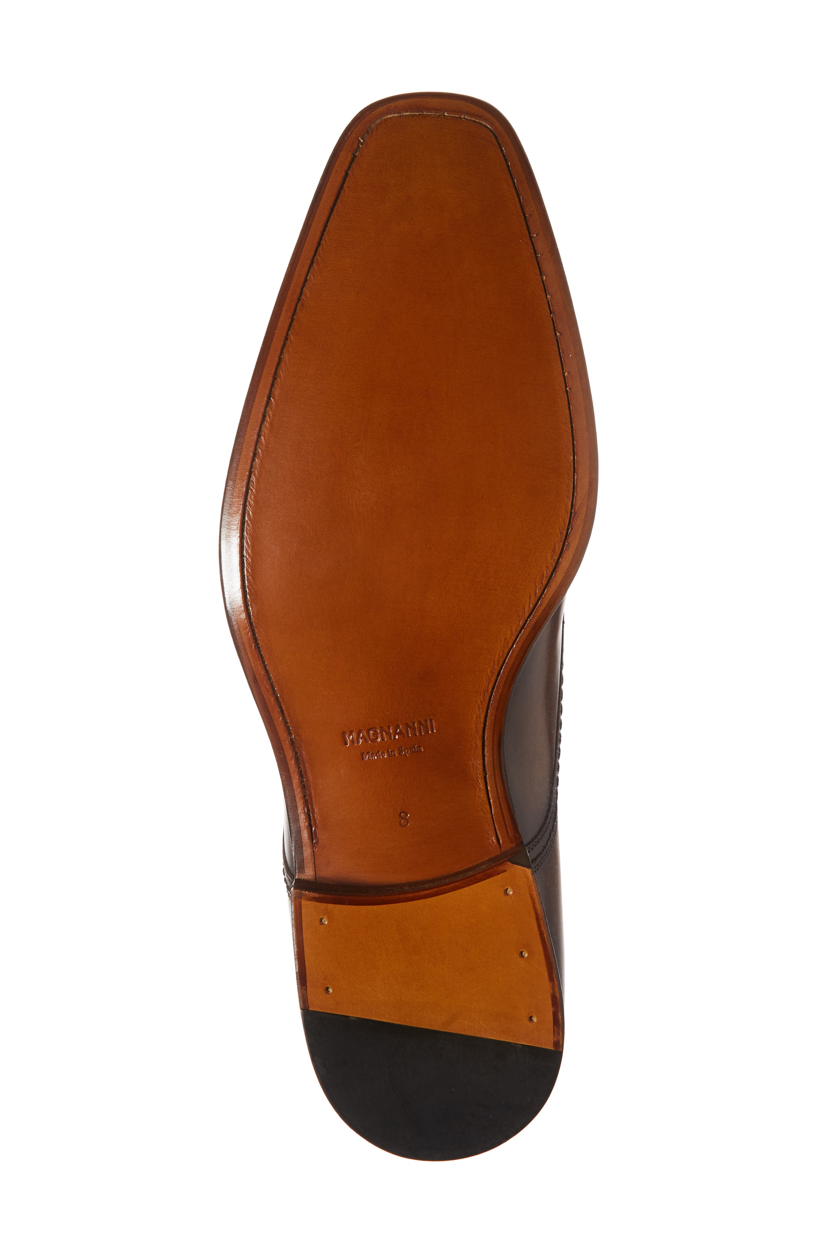 Landon Double Strap Monk Shoe,                             Alternate thumbnail 6, color,                             TOBACCO LEATHER