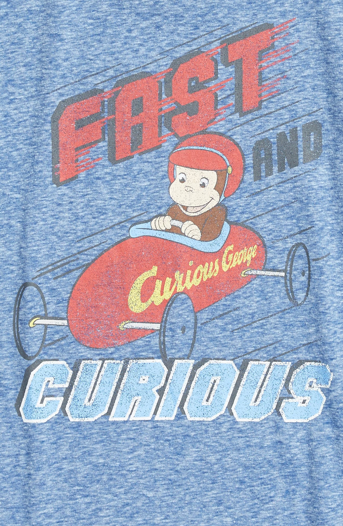 Fast & Curious George Graphic T-Shirt,                             Alternate thumbnail 2, color,