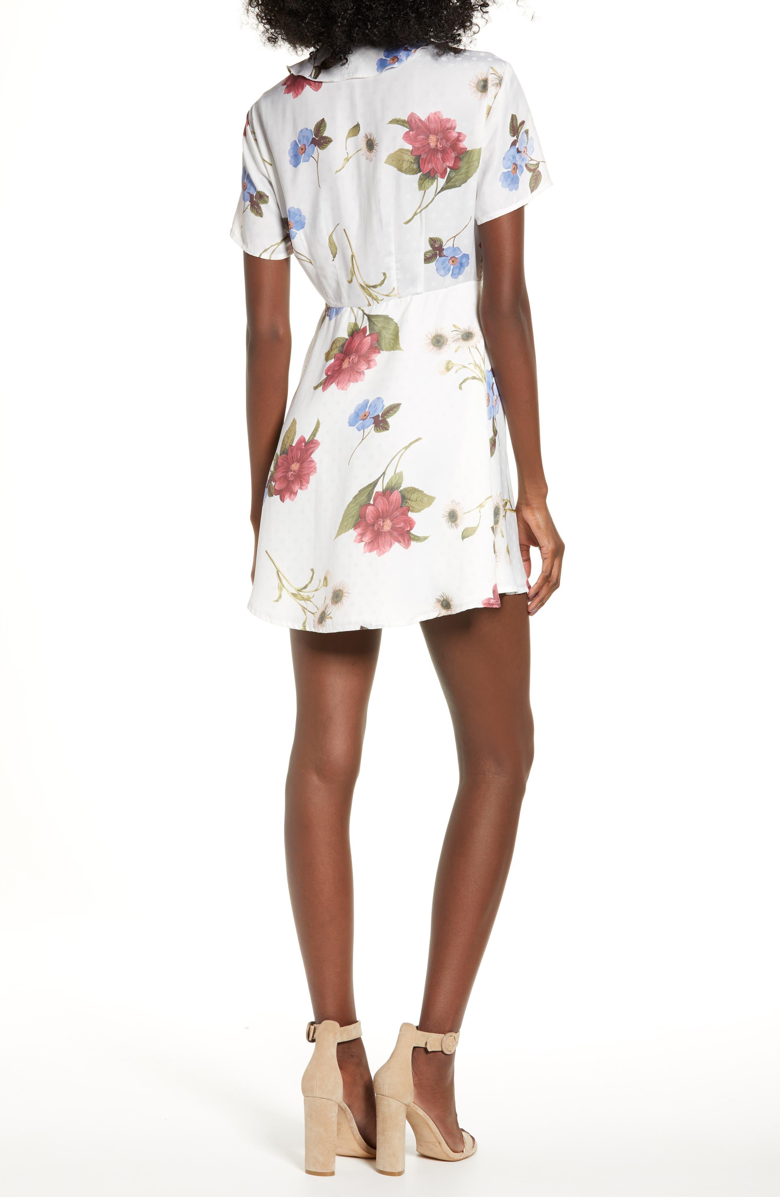 SHOW ME YOUR MUMU,                             Bernadette Babydoll Dress,                             Alternate thumbnail 2, color,                             FLORENCE FLORAL SILKY DOTS