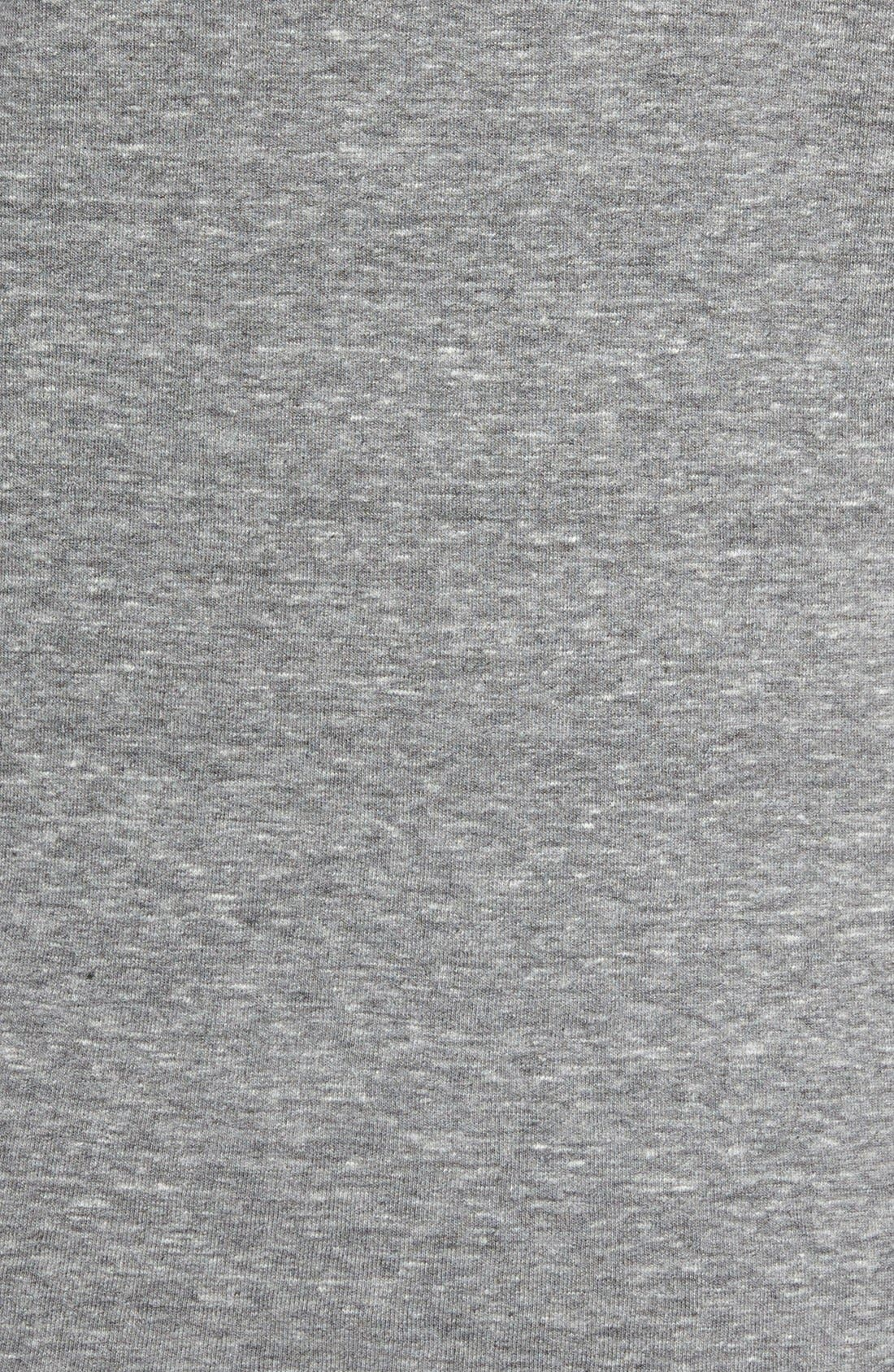 Scallop Triblend V-Neck T-Shirt,                             Alternate thumbnail 3, color,                             HEATHER GREY