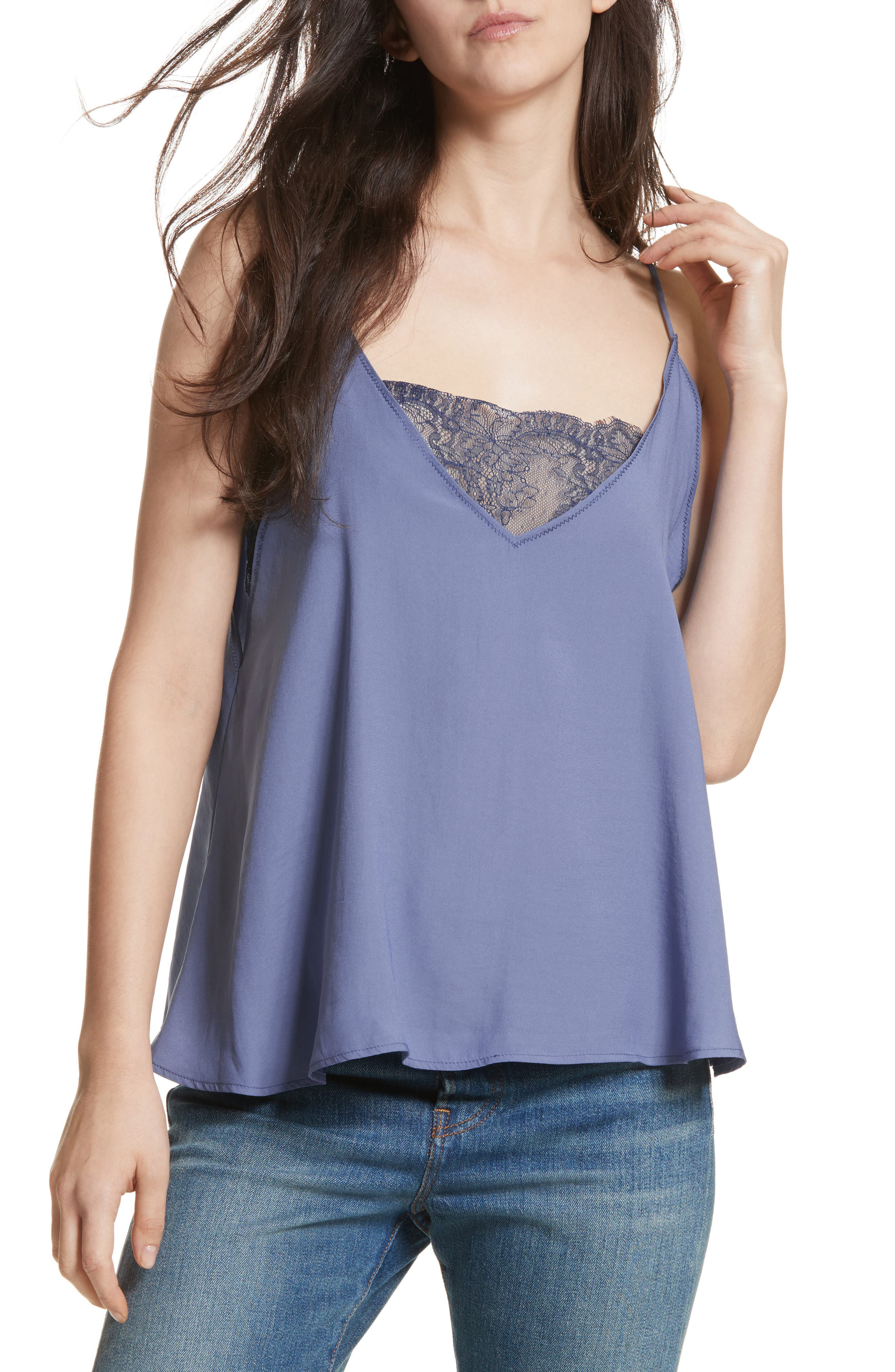 Lace Inset Camisole,                             Main thumbnail 1, color,                             455