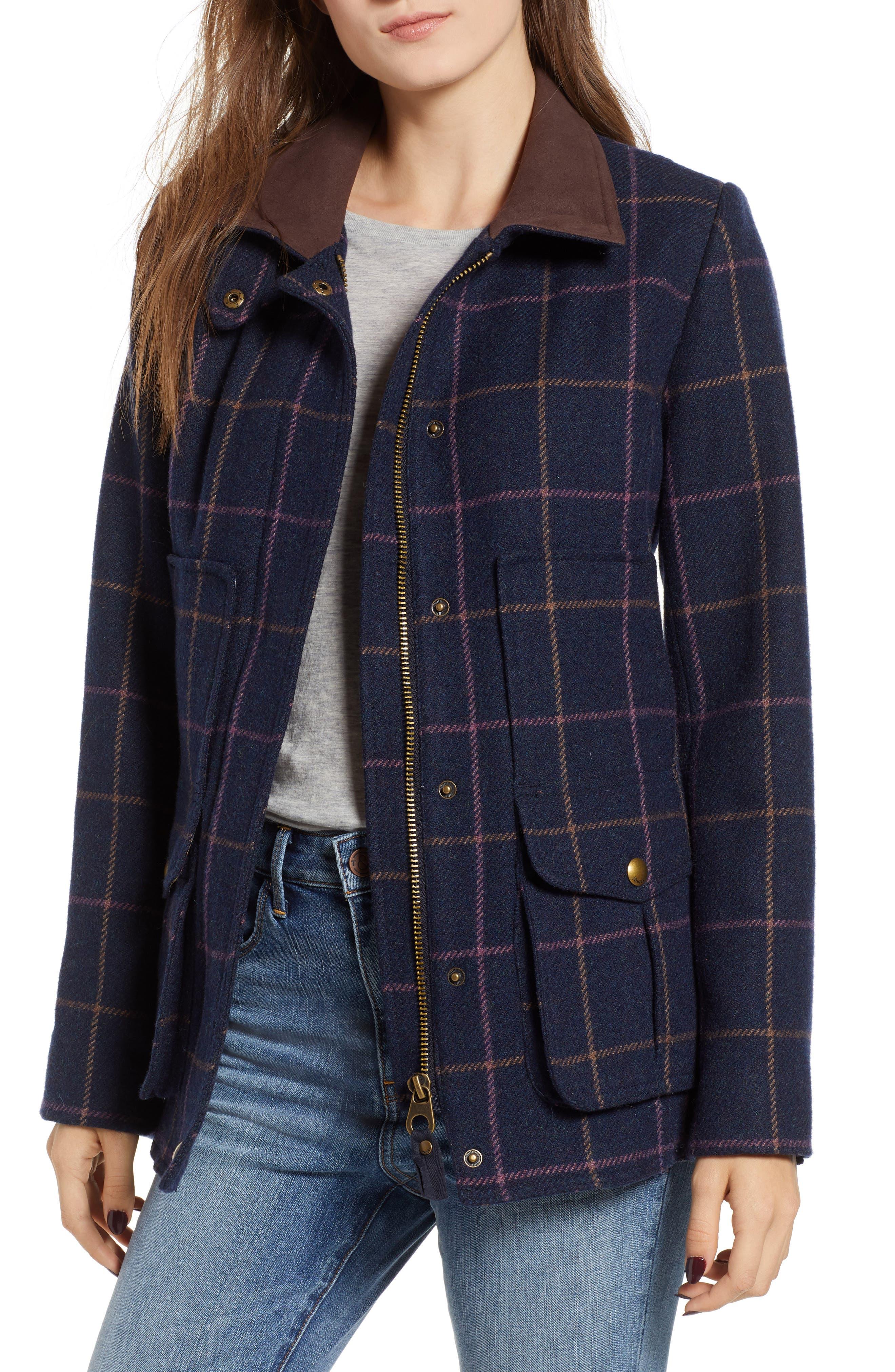 Check Plaid Coat, Main, color, 461