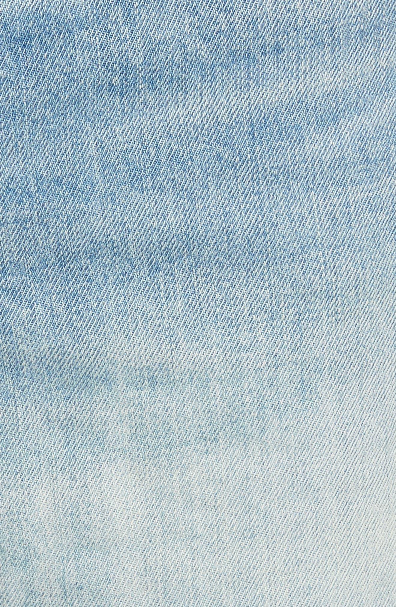 Justine High Waist Cutoff Denim Shorts,                             Alternate thumbnail 5, color,                             450