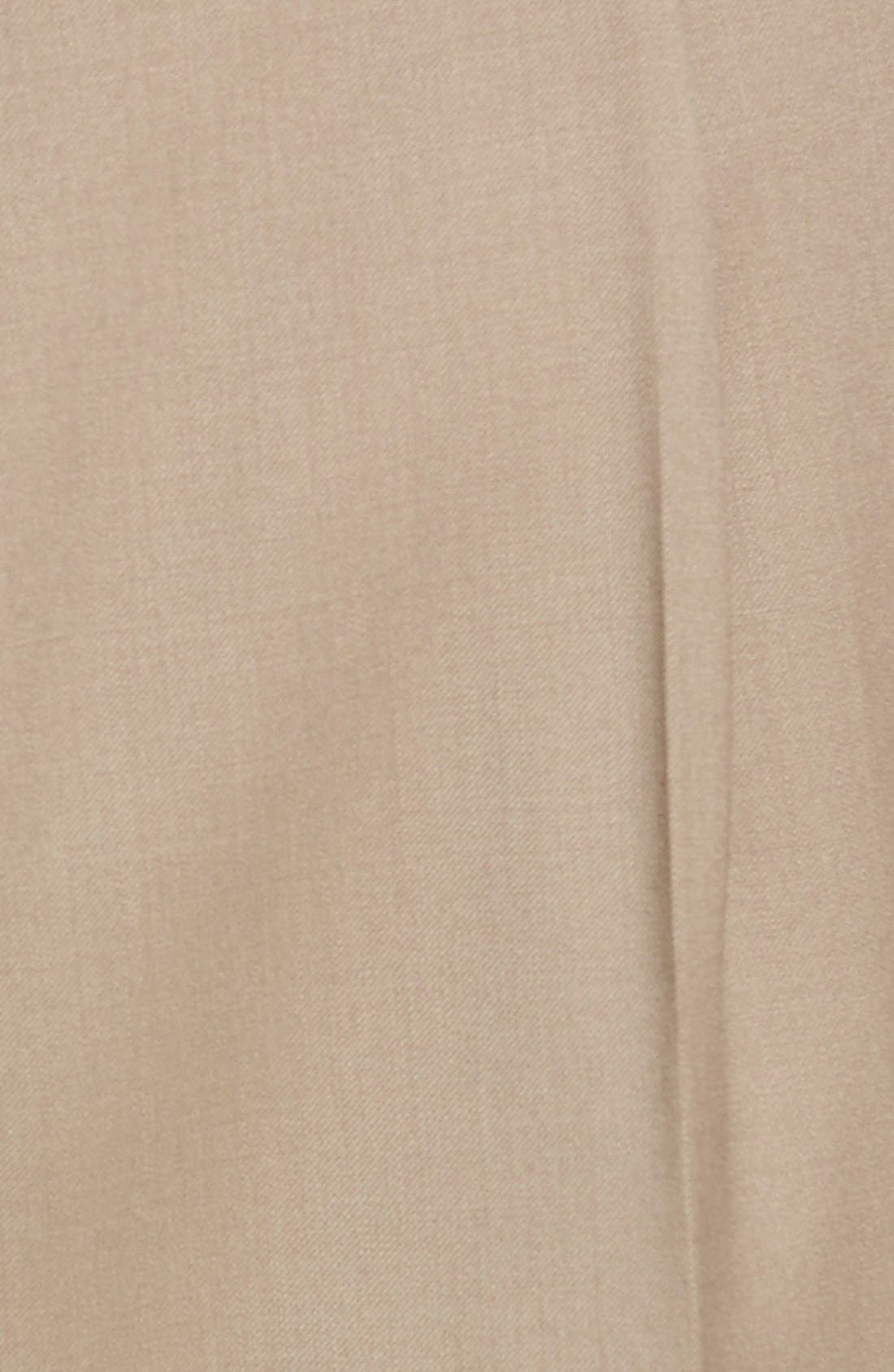 Pleated Solid Wool Trousers,                             Alternate thumbnail 62, color,