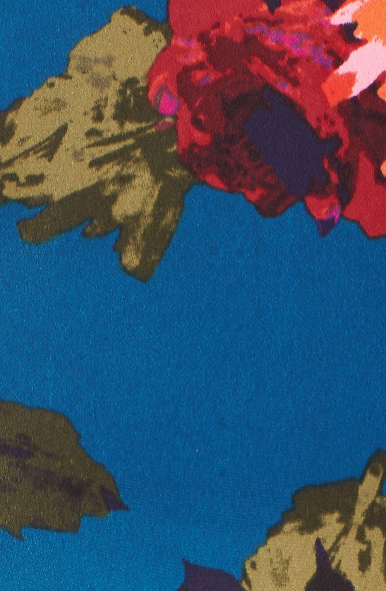 Cold Shoulder Fit & Flare Dress,                             Alternate thumbnail 5, color,                             490