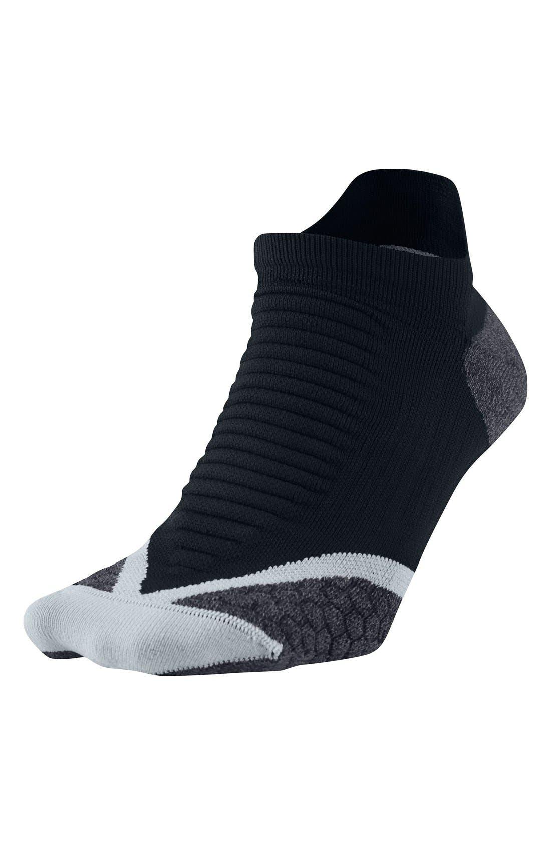 Elite Cushioned No-Show Tab Running Socks,                             Main thumbnail 1, color,                             010