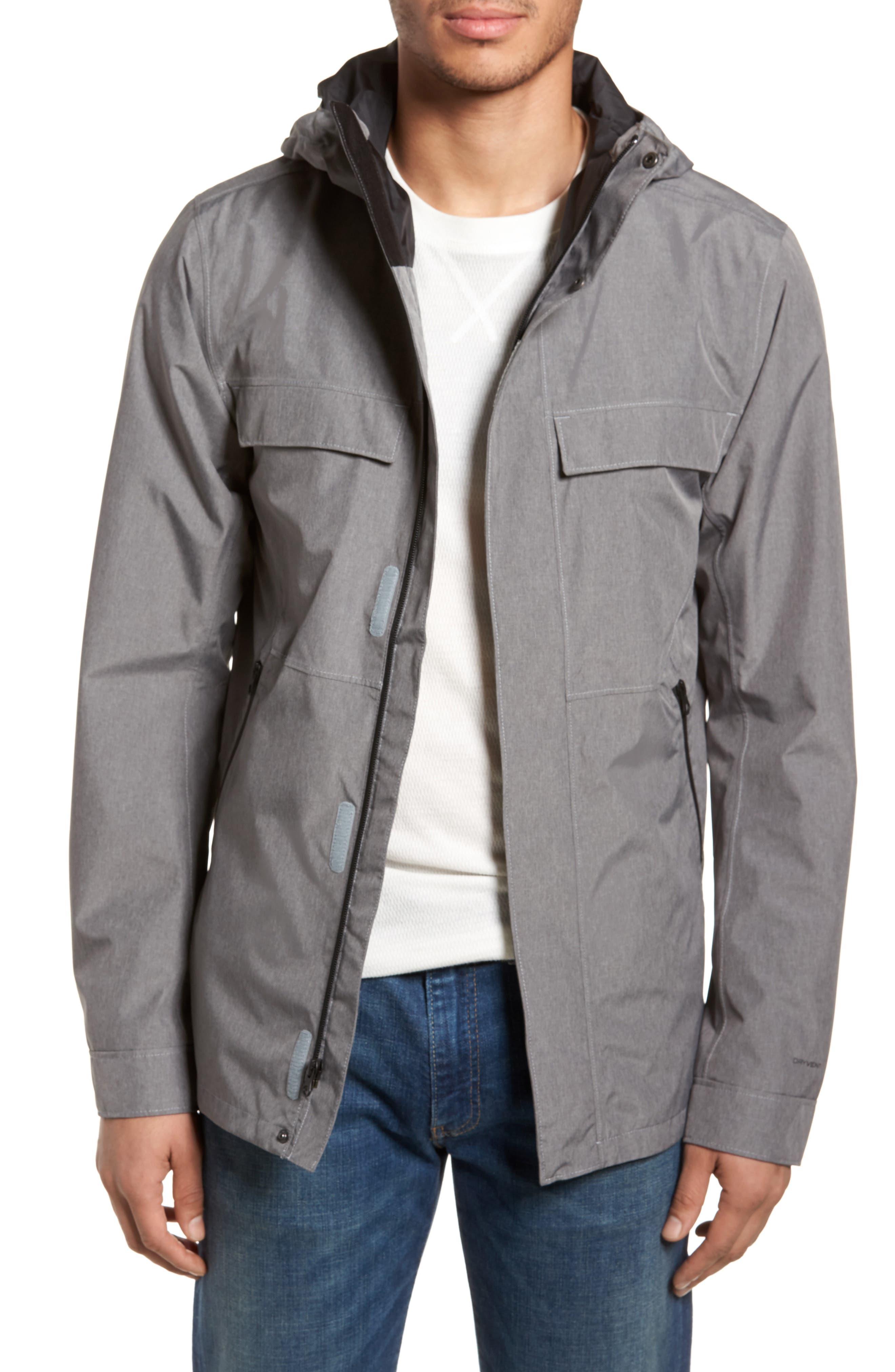 Jenison II Insulated Waterproof Jacket,                         Main,                         color, TNF MEDIUM GREY HEATHER