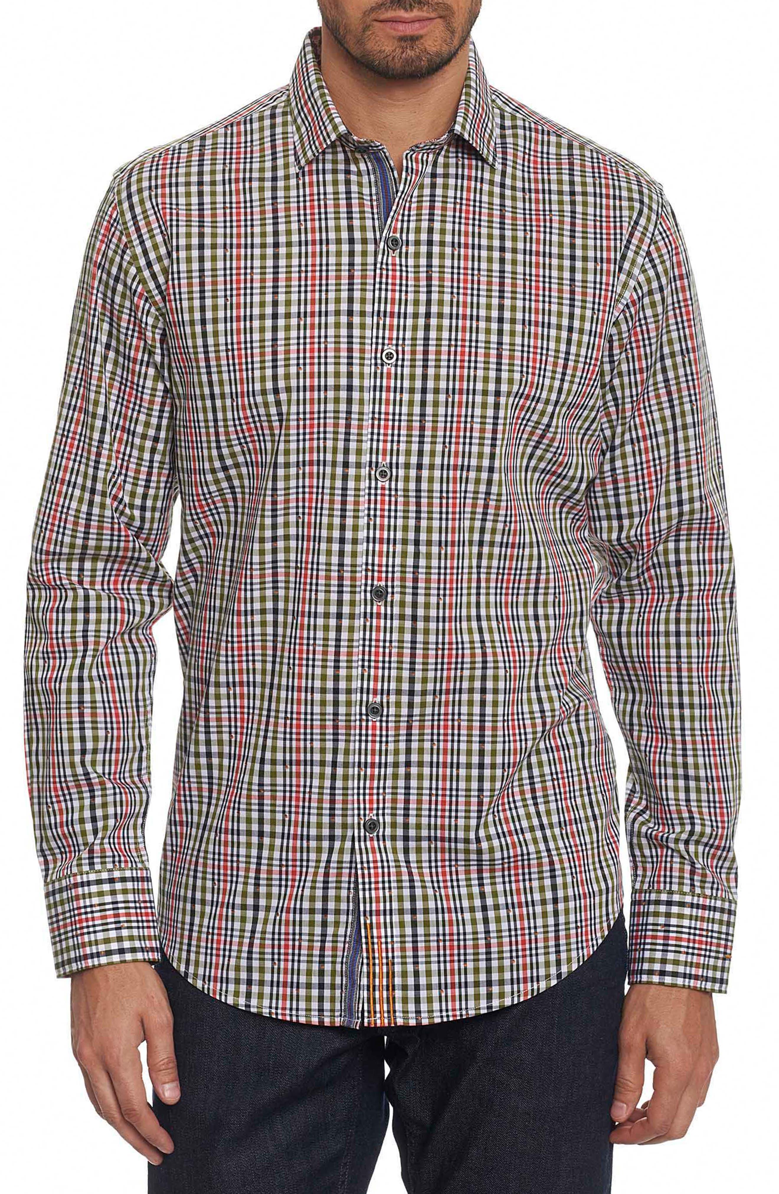 Cape Vincent Classic Fit Dobby Check Sport Shirt,                             Main thumbnail 1, color,                             308