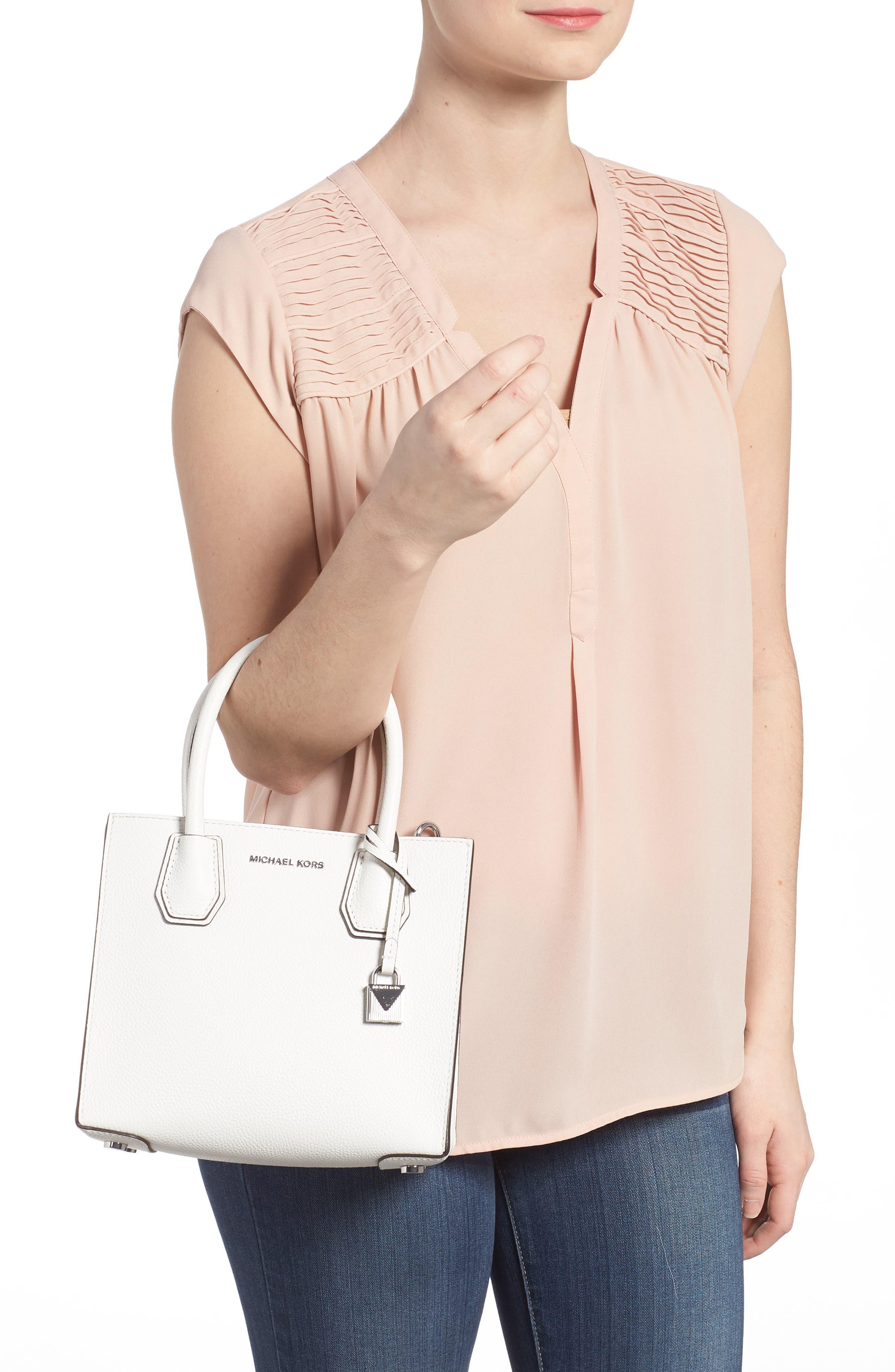 Mercer Leather Crossbody Bag,                             Alternate thumbnail 2, color,                             WHITE