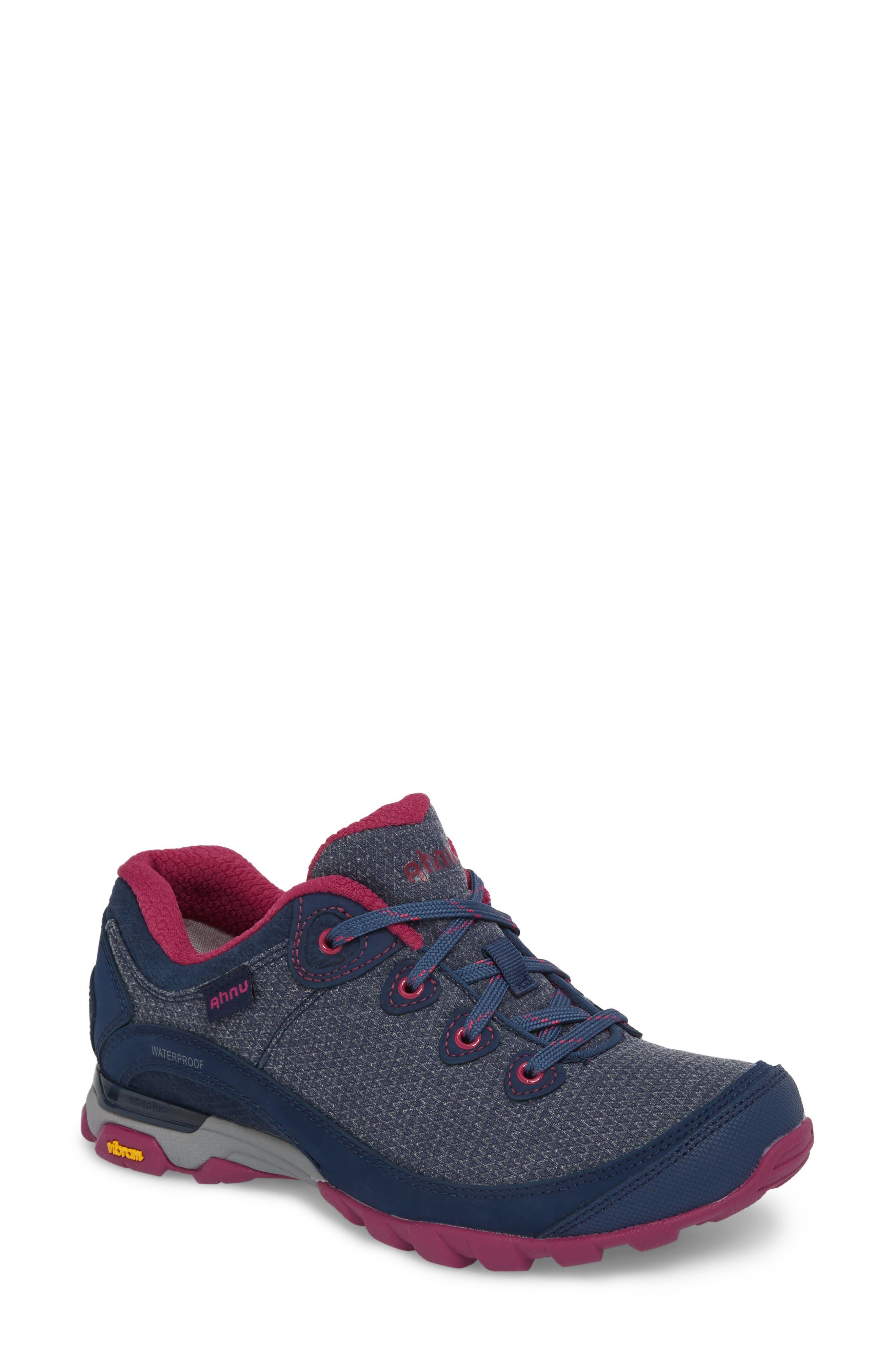 Ahnu by Teva Sugarpine II Waterproof Hiking Sneaker,                             Main thumbnail 1, color,                             INSIGNIA BLUE