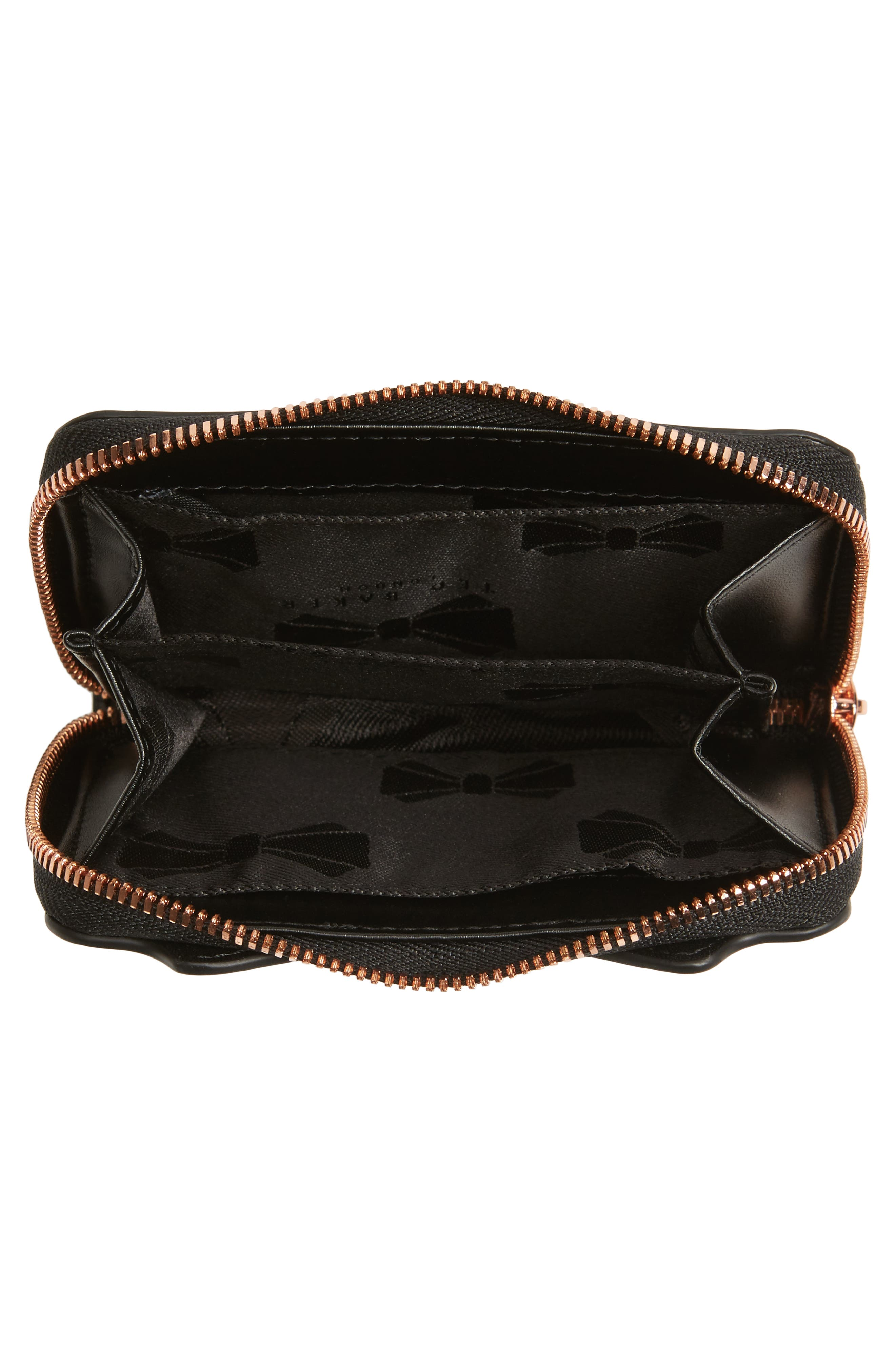 Zip Around Leather Wallet,                             Alternate thumbnail 2, color,