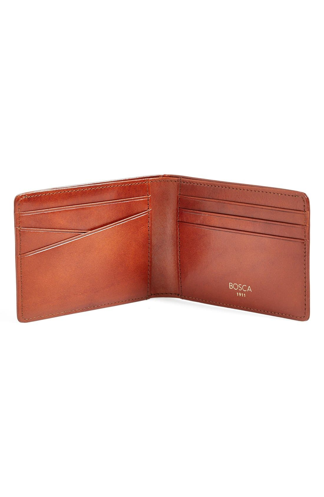 Small Bifold Wallet,                             Alternate thumbnail 4, color,                             AMBER