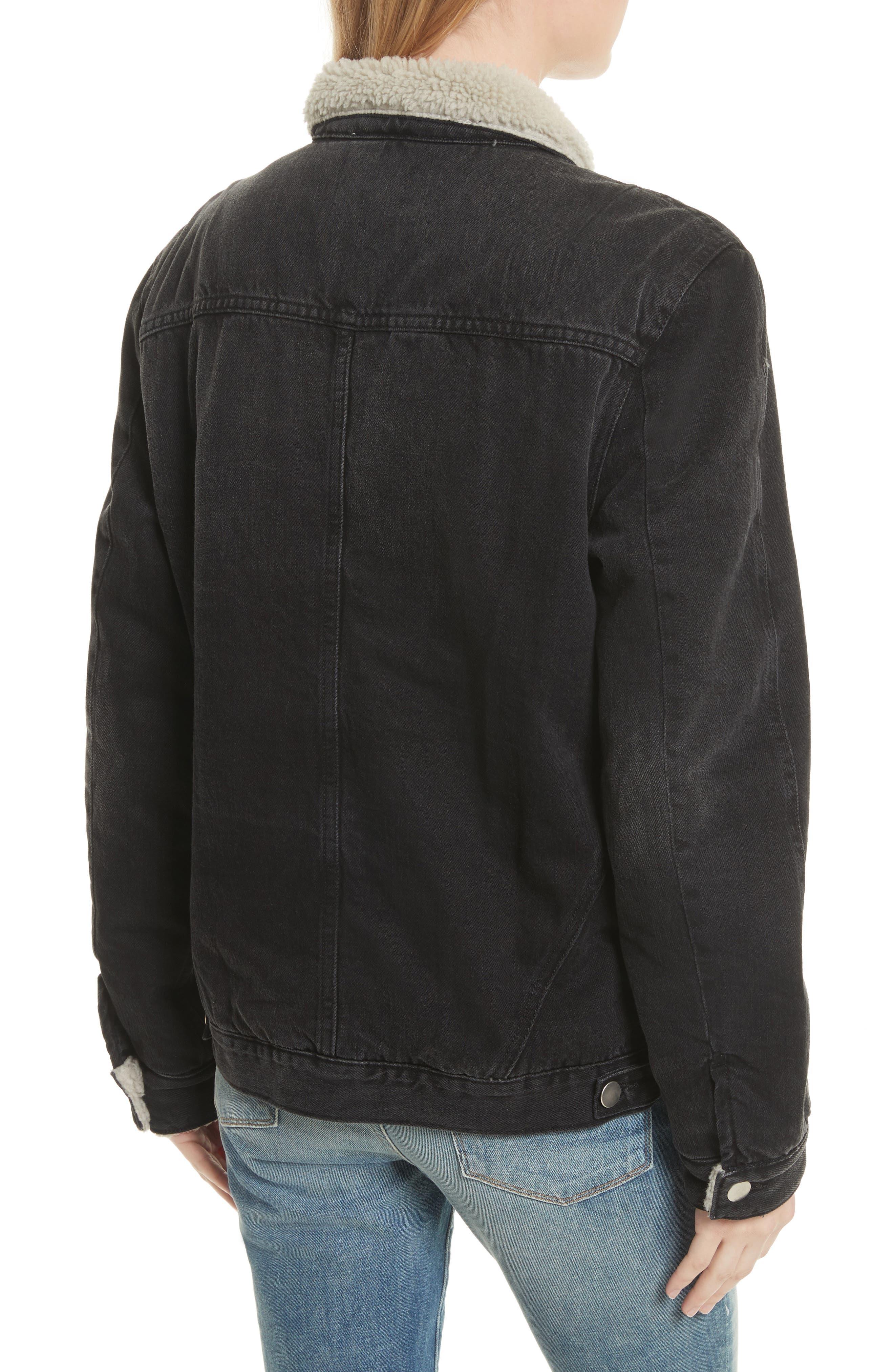 Le Sherpa Denim Jacket,                             Alternate thumbnail 2, color,                             001