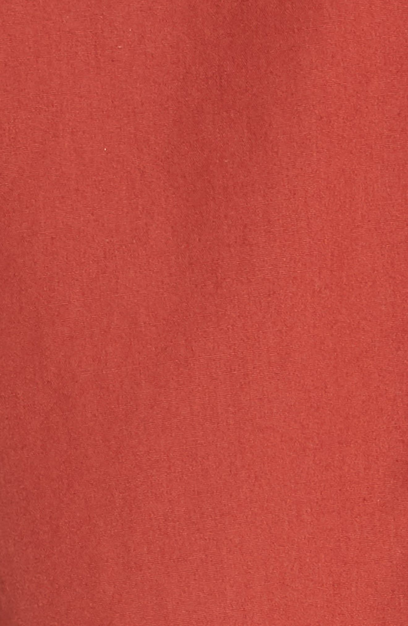 Back Cutout Cotton Utility Dress,                             Alternate thumbnail 10, color,