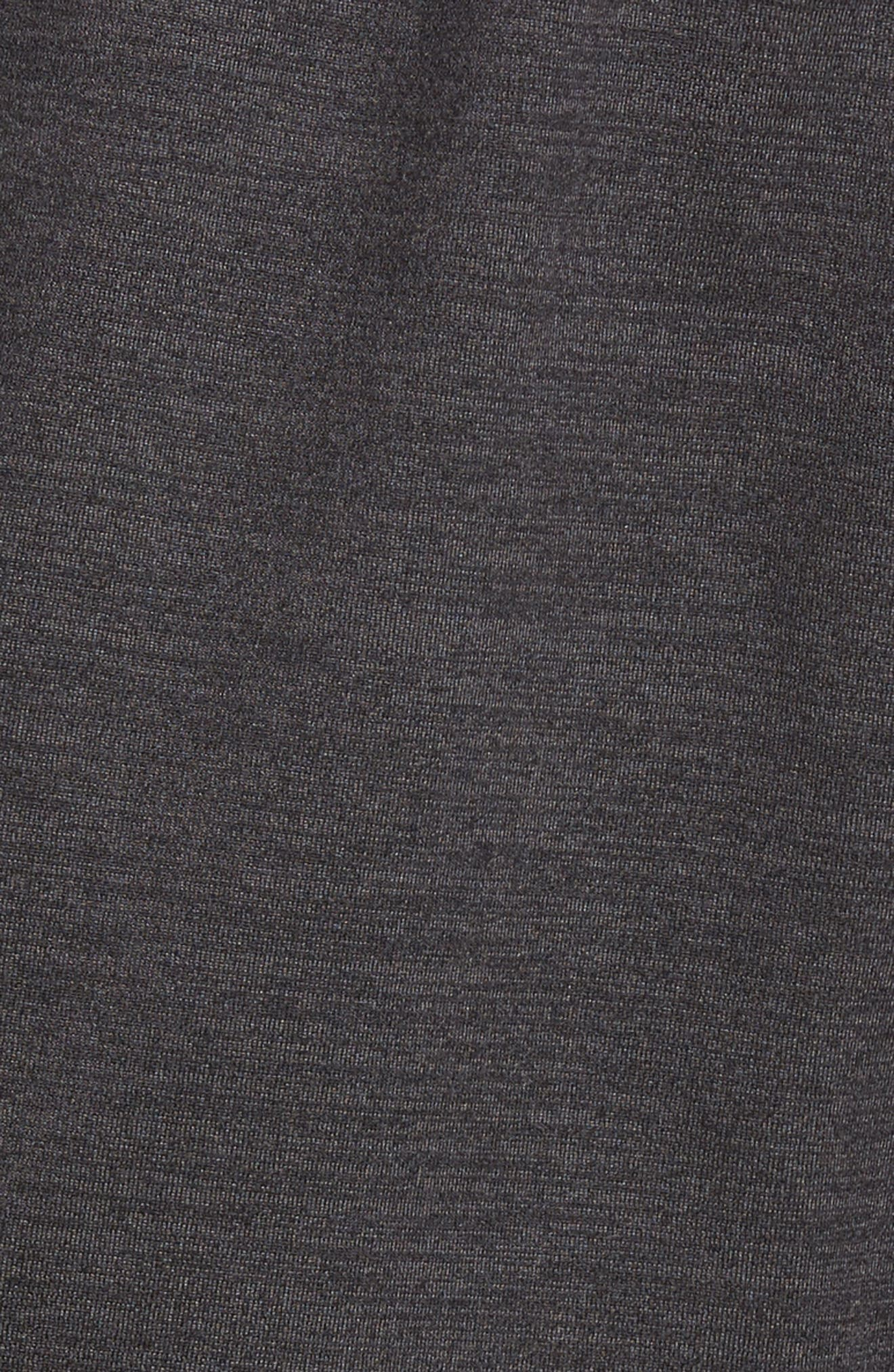 ZELLA,                             Pyrite Knit Shorts,                             Alternate thumbnail 5, color,                             BLACK OXIDE MELANGE