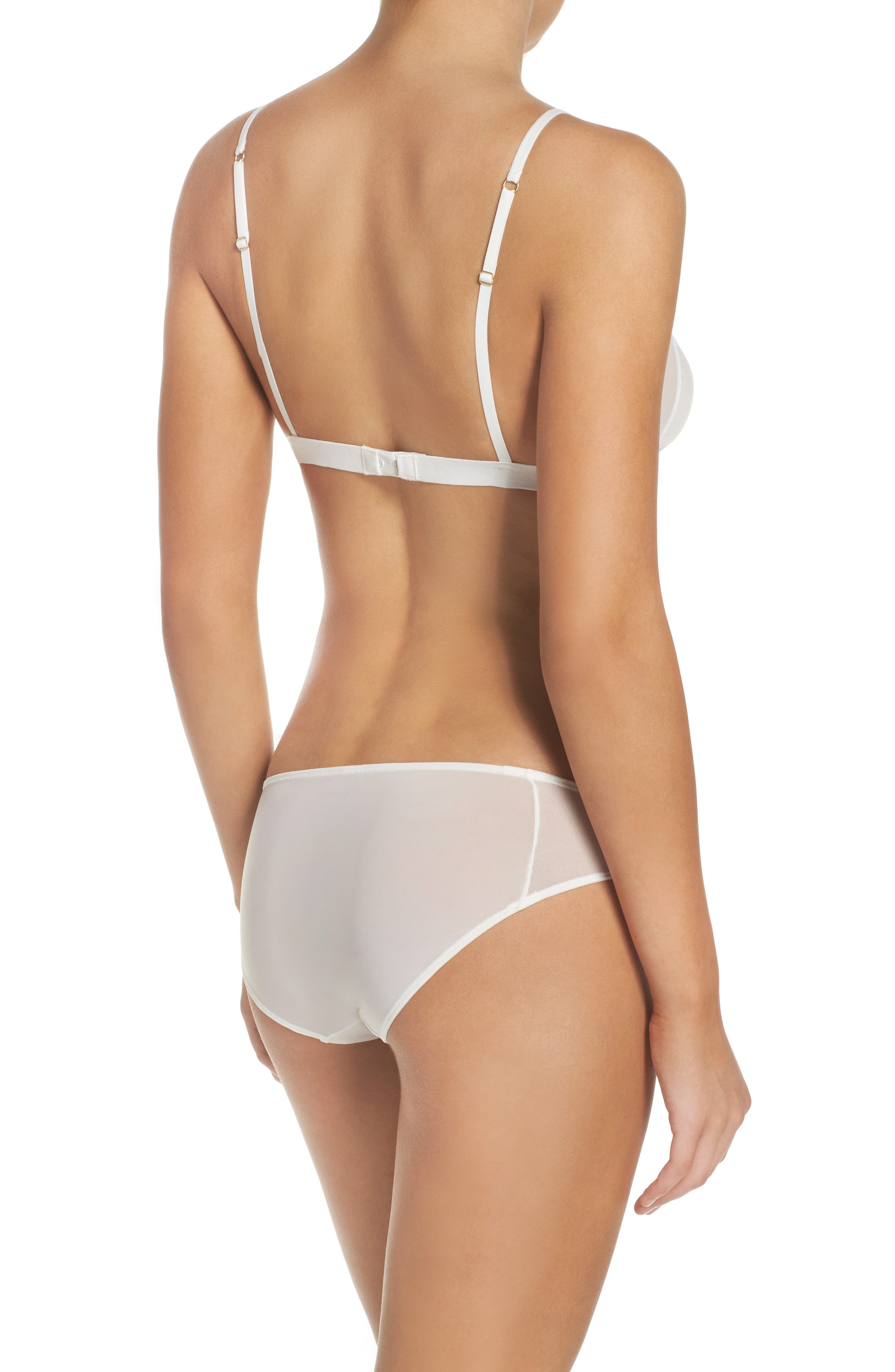 Mesh Trim Bikini,                             Alternate thumbnail 6, color,                             WHITE WASH
