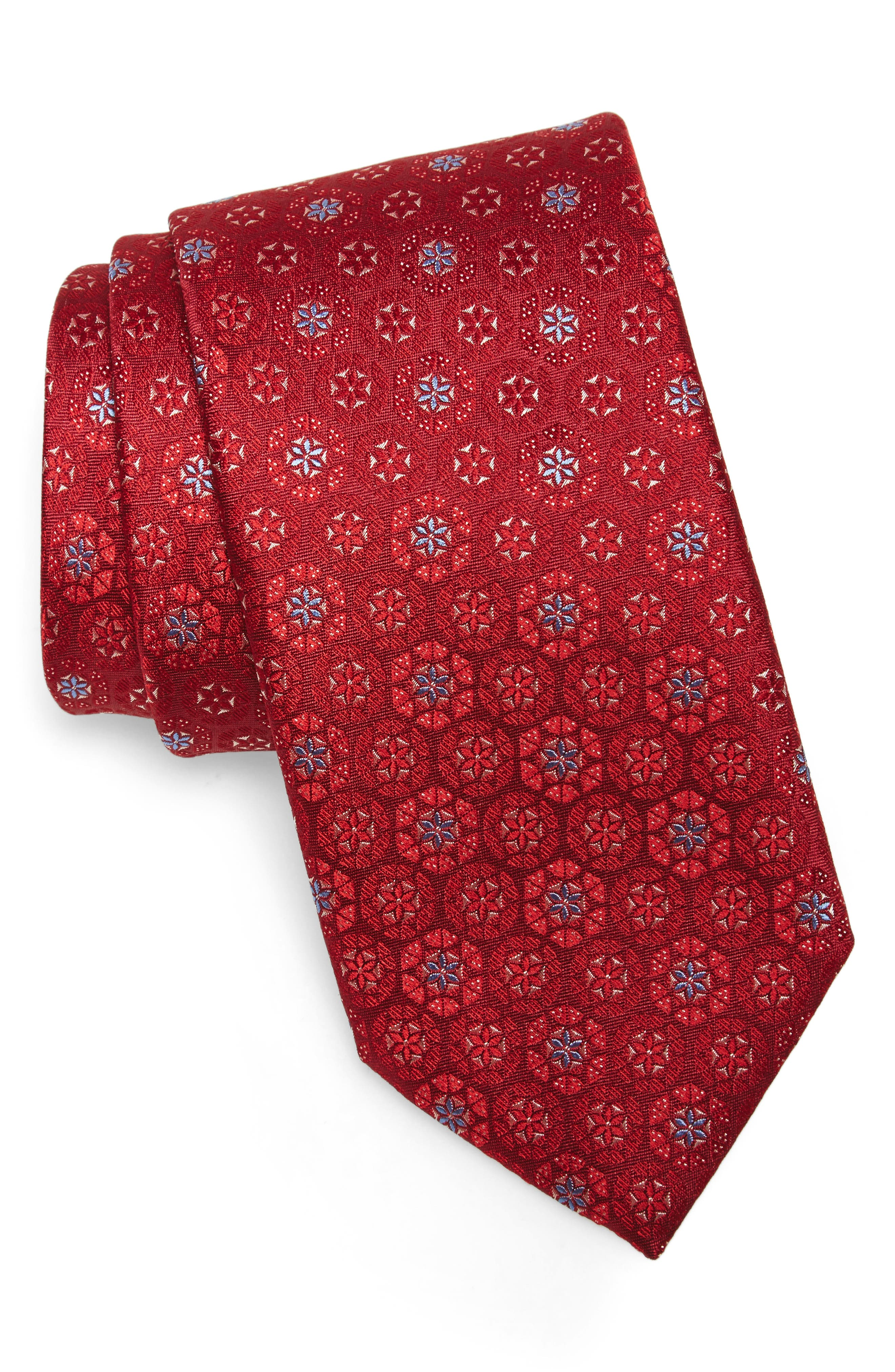Medallion Silk Tie,                         Main,                         color,