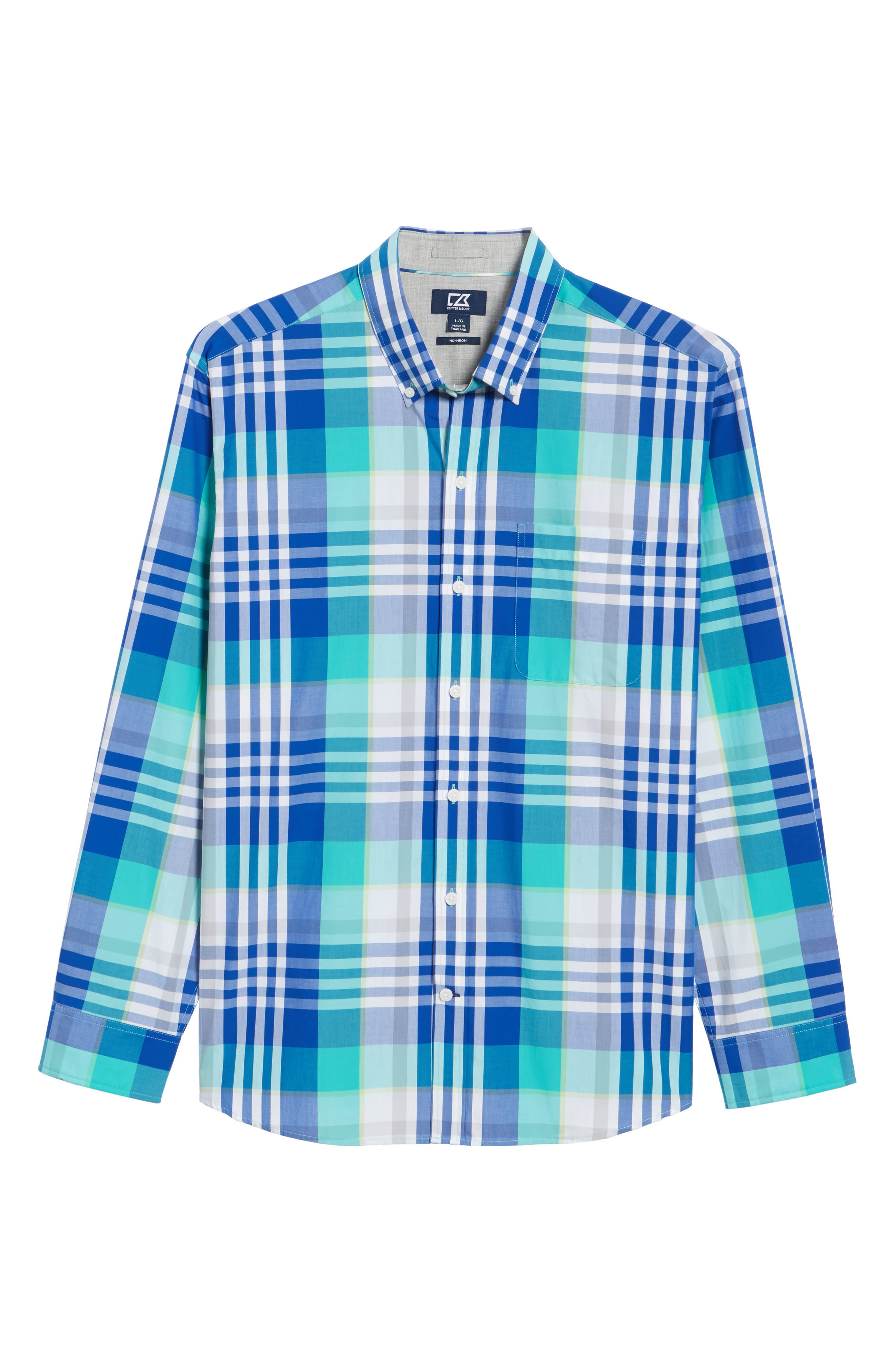 Cooper Classic Fit Non-Iron Plaid Sport Shirt,                             Alternate thumbnail 11, color,