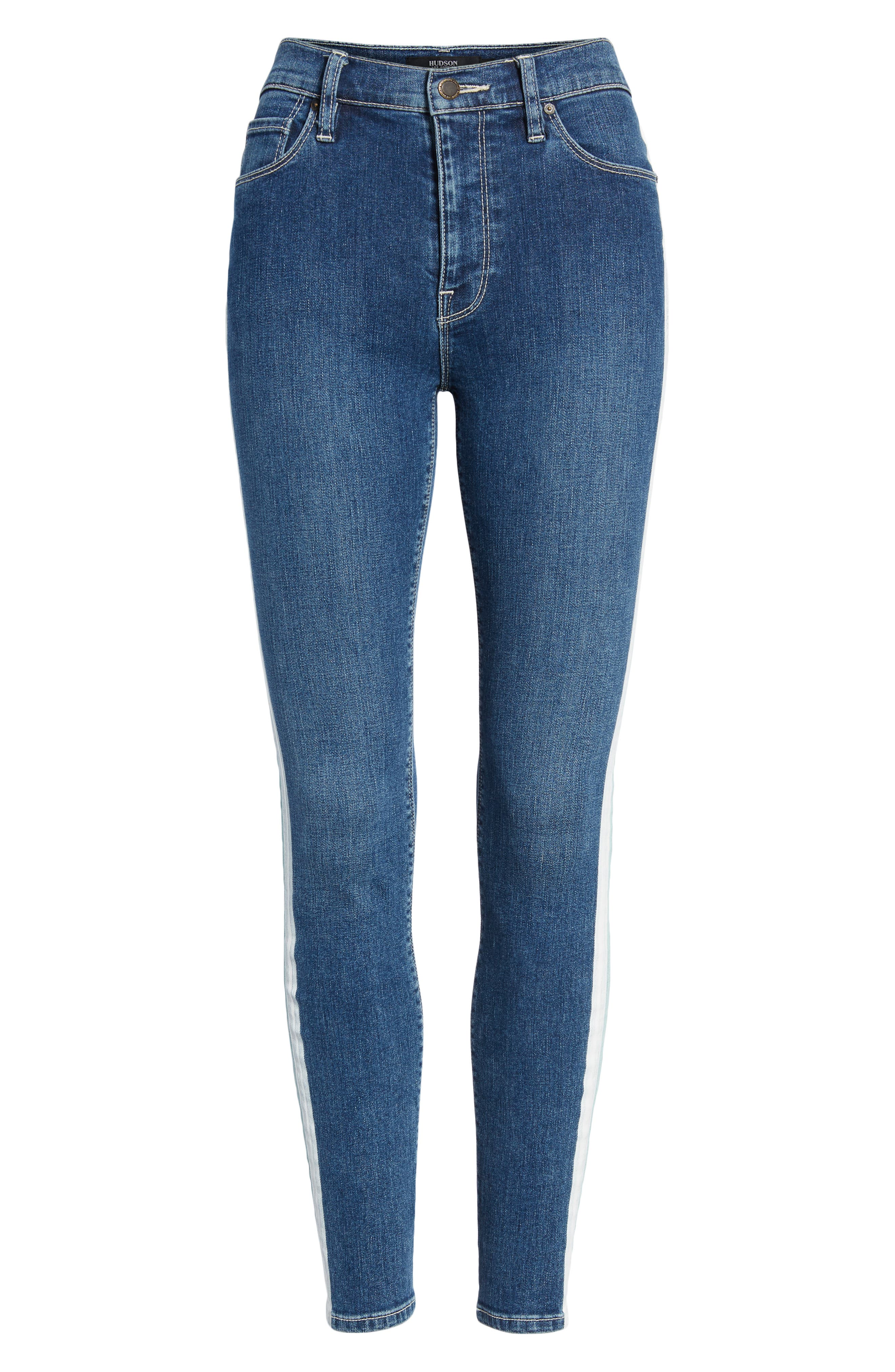 Barbara High Waist Ankle Skinny Jeans,                             Alternate thumbnail 7, color,                             403