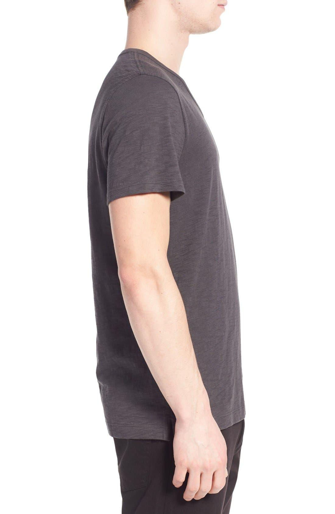 Slub V-Neck T-Shirt,                             Alternate thumbnail 3, color,                             SPHERE