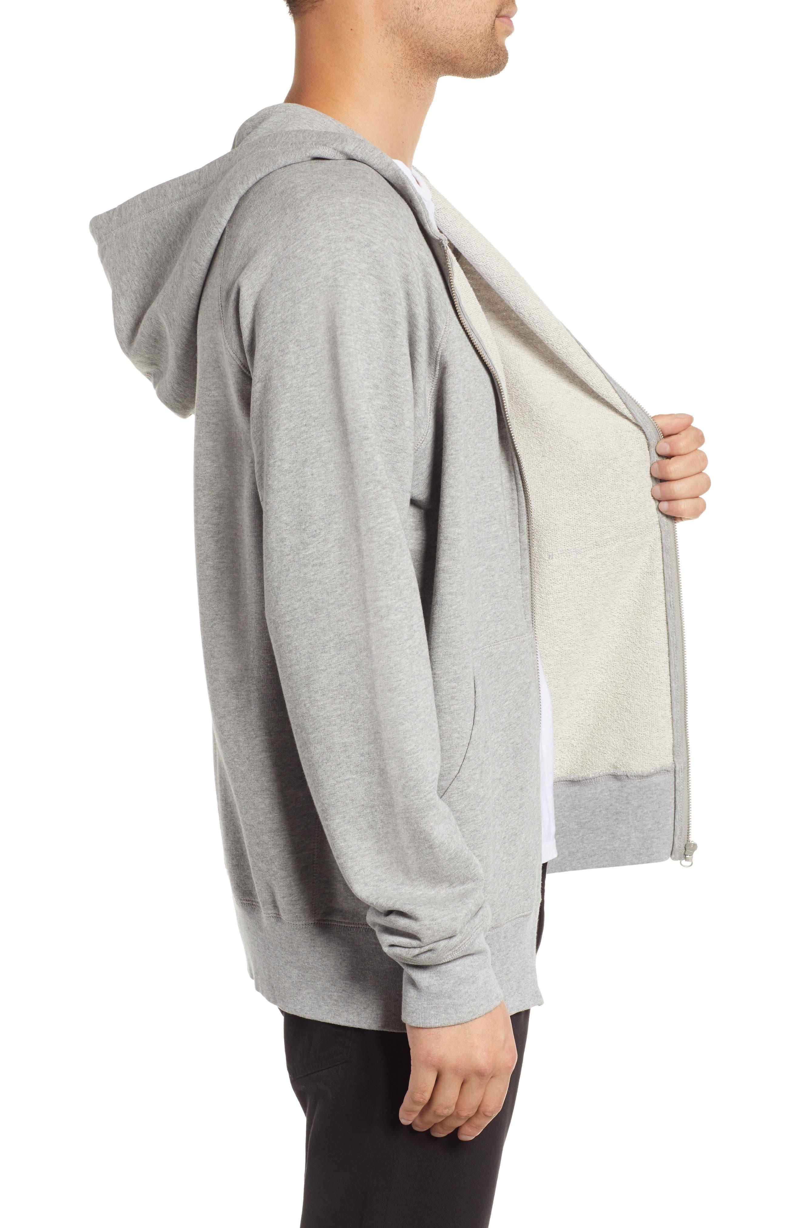 Pause Hooded Zip Sweatshirt,                             Alternate thumbnail 3, color,                             GREY MELANGE