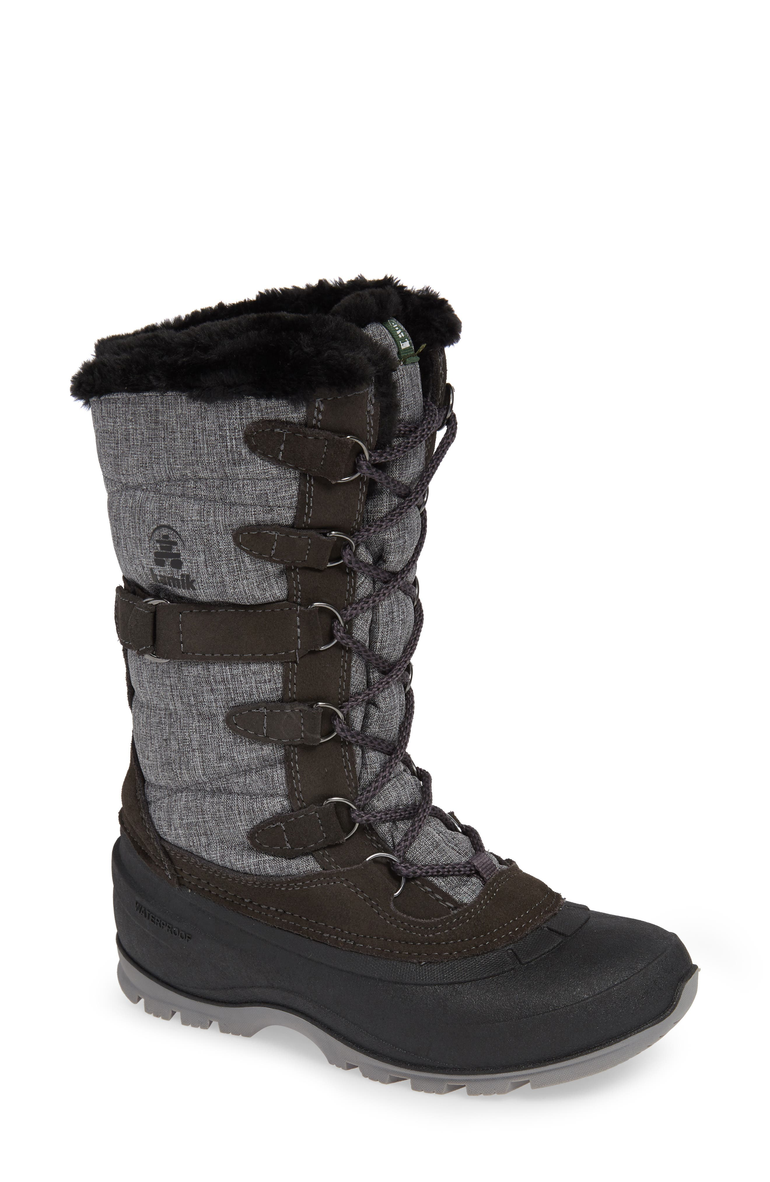 Kamik Snovalley2 Waterproof Thinsulate-Insulated Snow Boot, Grey