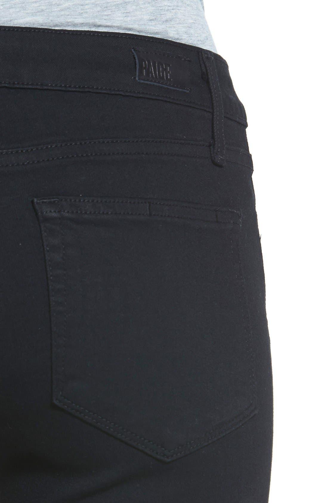Transcend - Verdugo Ankle Ultra Skinny Jeans,                             Alternate thumbnail 11, color,                             BLACK SHADOW