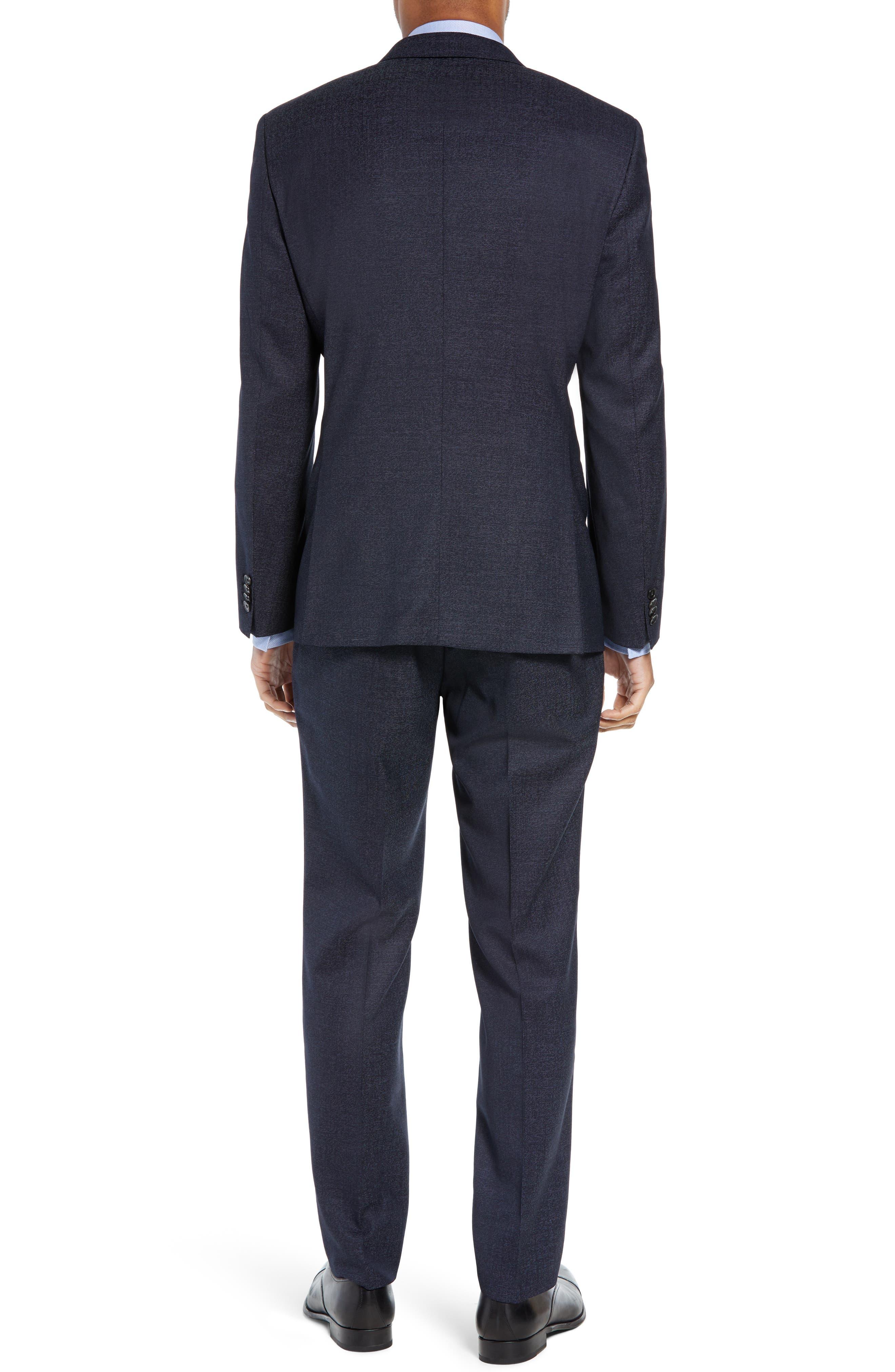 Huge/Genius Trim Fit Solid Wool Suit,                             Alternate thumbnail 2, color,                             OPEN BLUE