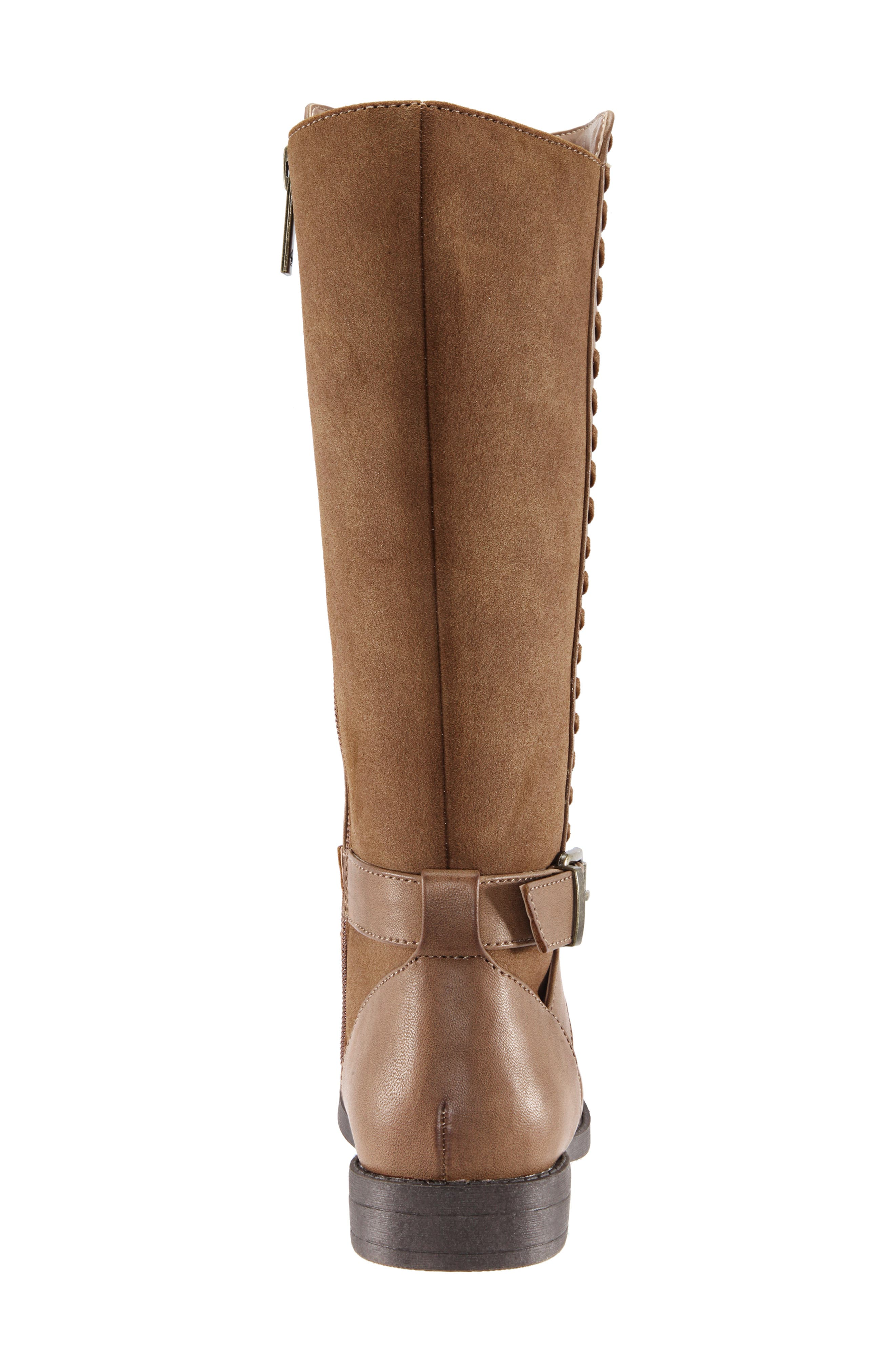 Jeanie Riding Boot,                             Alternate thumbnail 6, color,                             SADDLE BURNISHED