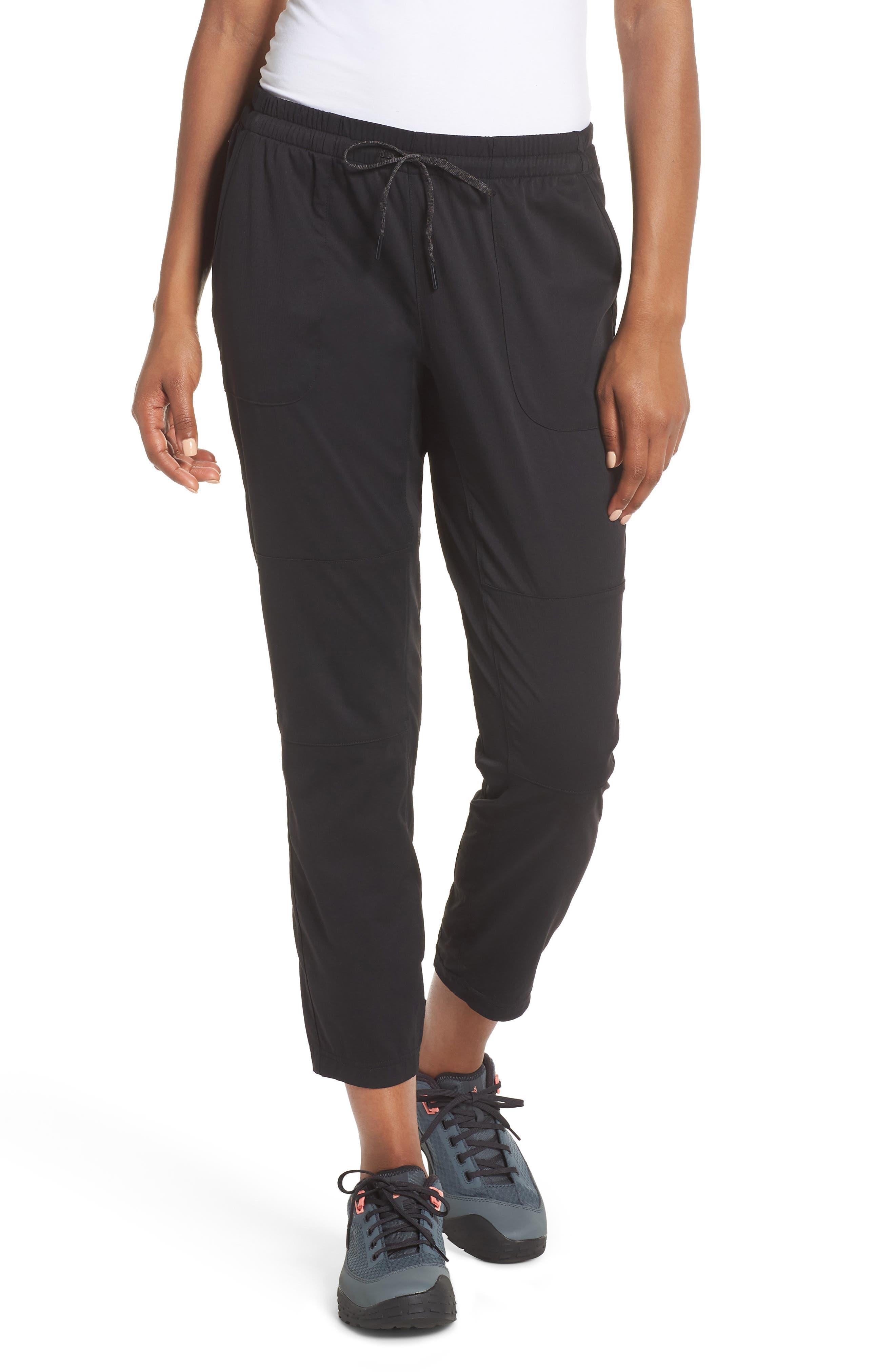 Aphrodite Motion Crop Pants,                         Main,                         color, TNF BLACK