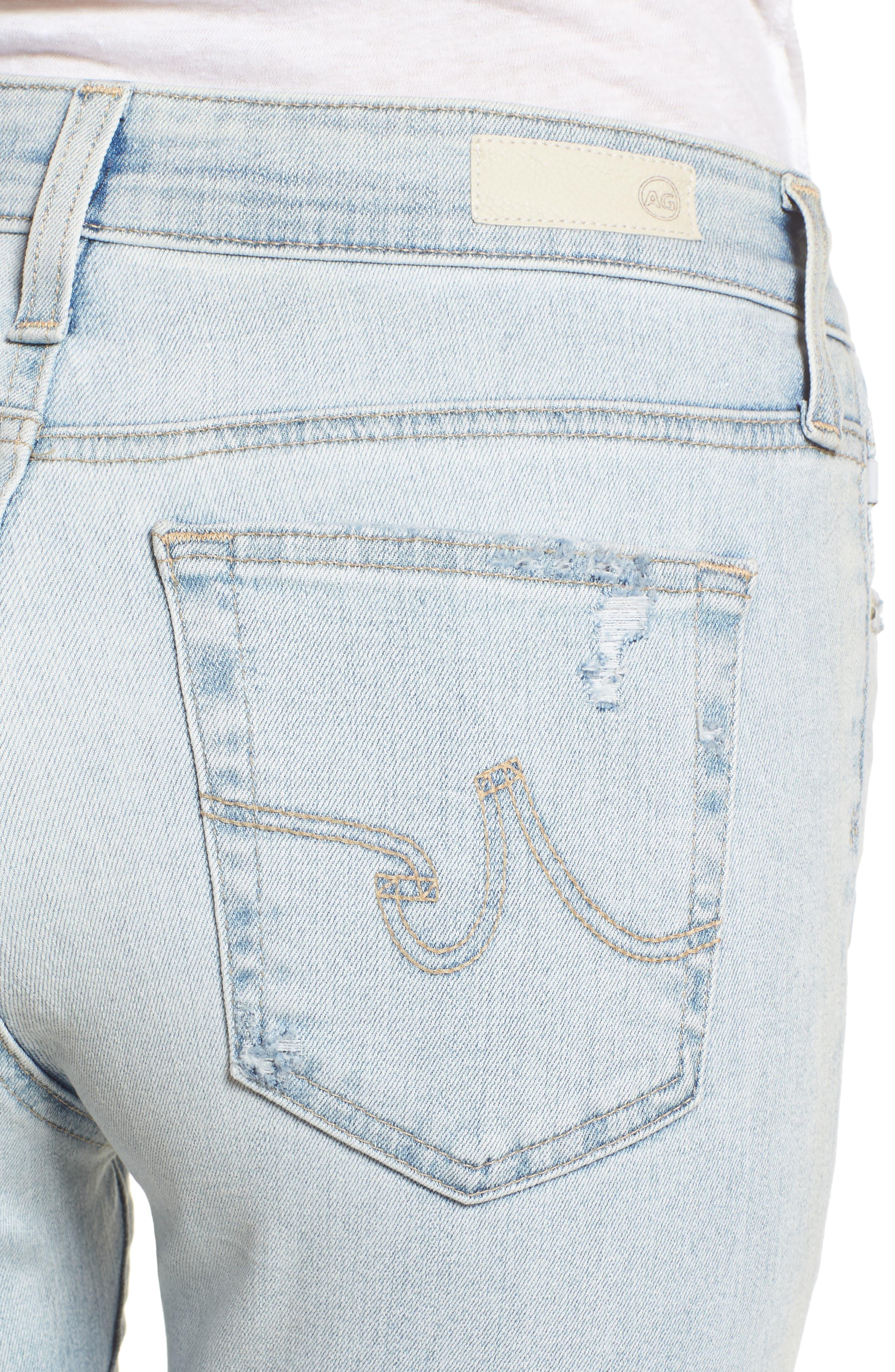 The Farrah High Waist Ankle Skinny Jeans,                             Alternate thumbnail 4, color,                             458