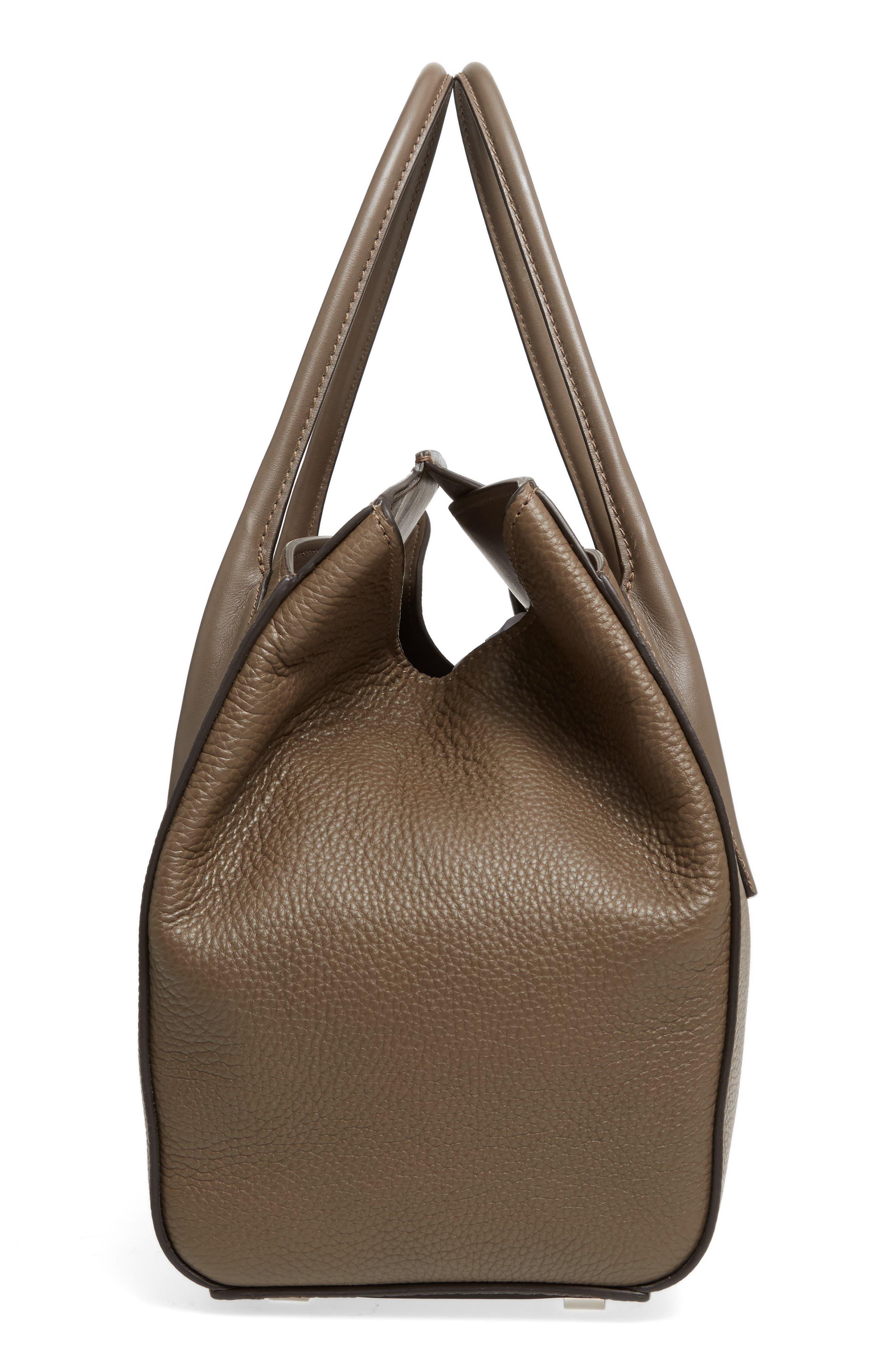 Large Barncroft Leather Convertible Satchel,                             Alternate thumbnail 5, color,                             020