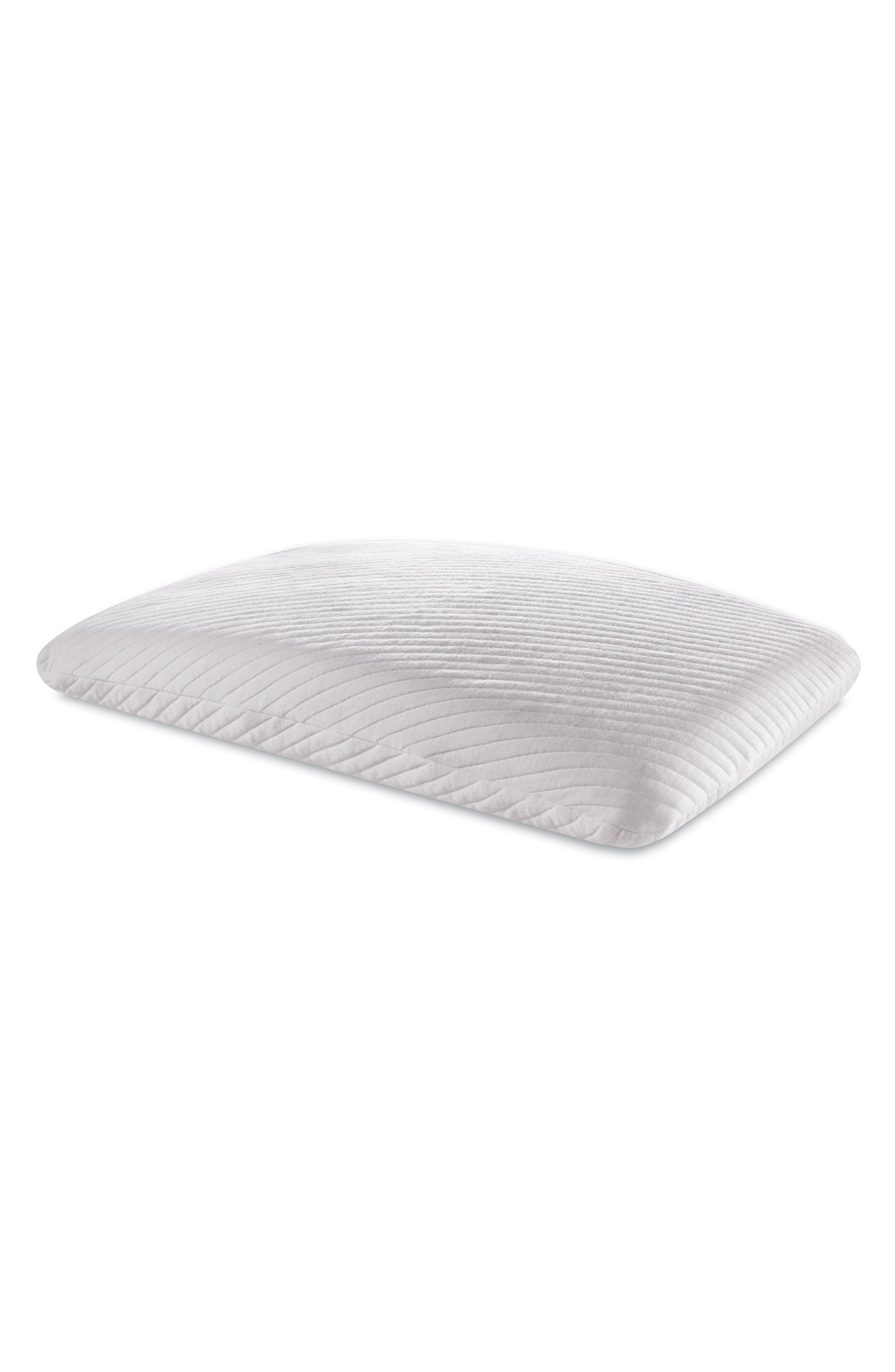 TEMPUR-Essential Support Pillow,                         Main,                         color, WHITE