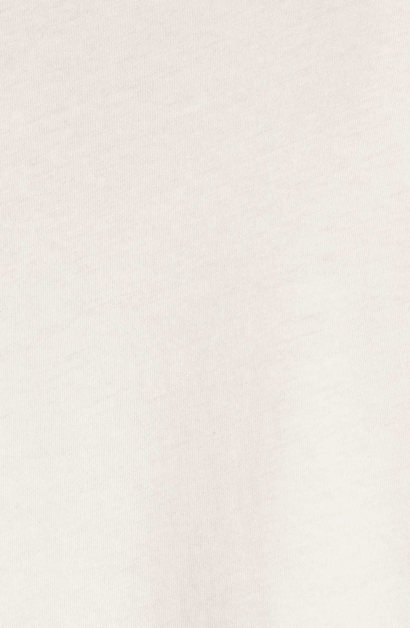 The Tuxedo Ruffle Tee,                             Alternate thumbnail 5, color,