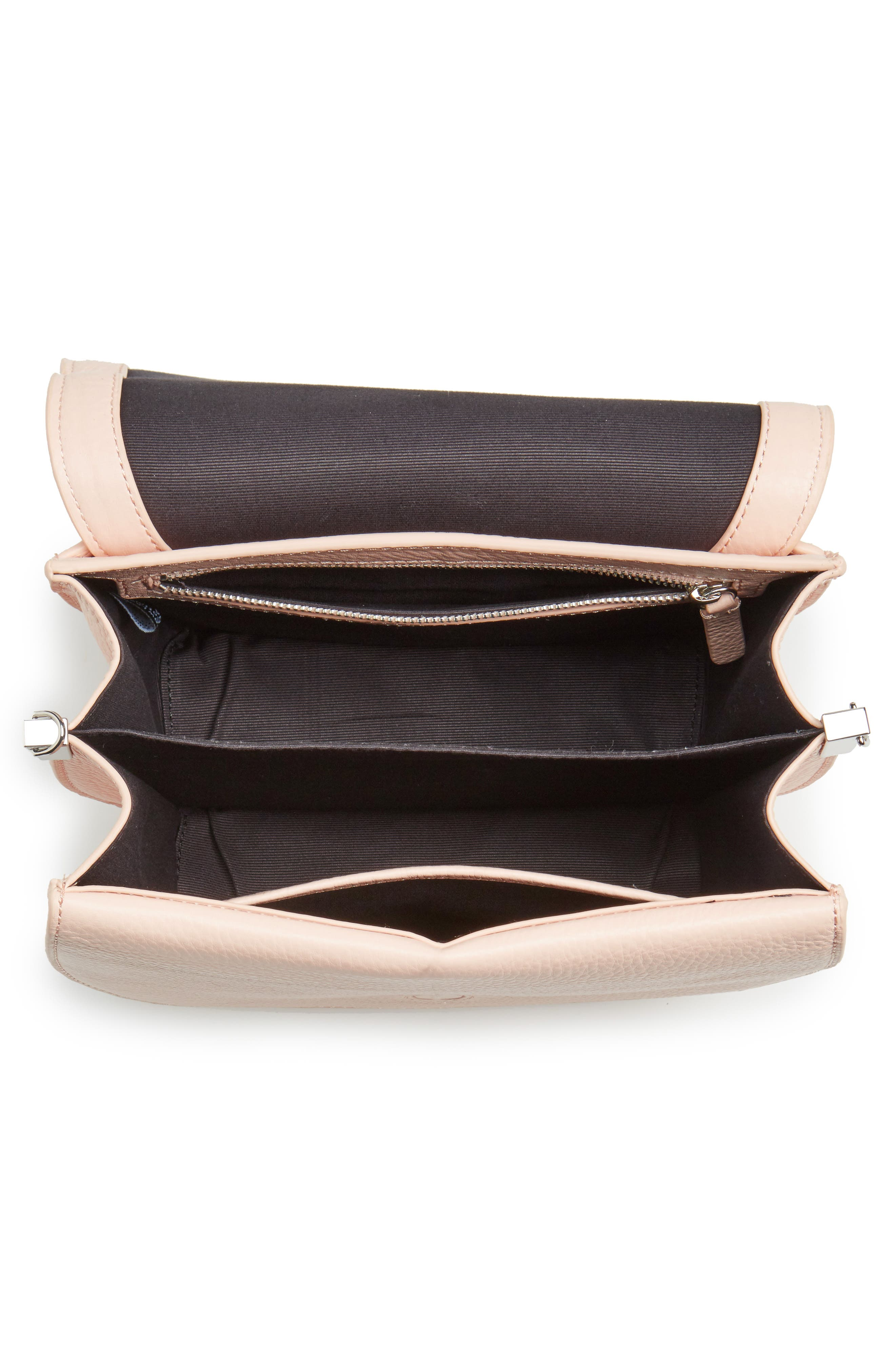 Landon Leather Crossbody Saddle Bag,                             Alternate thumbnail 15, color,