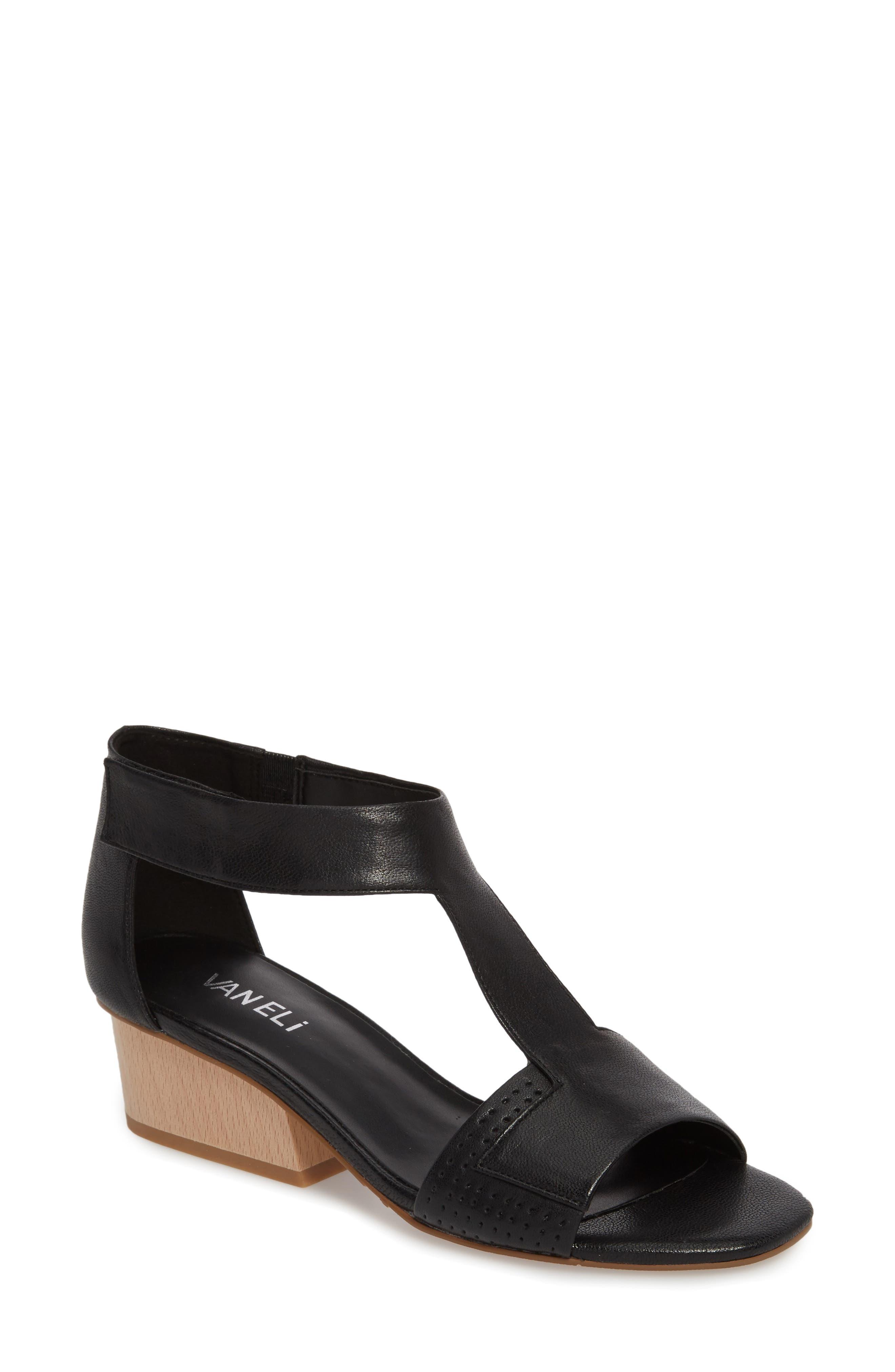Calyx Block Heel Sandal,                             Main thumbnail 1, color,                             BLACK LEATHER