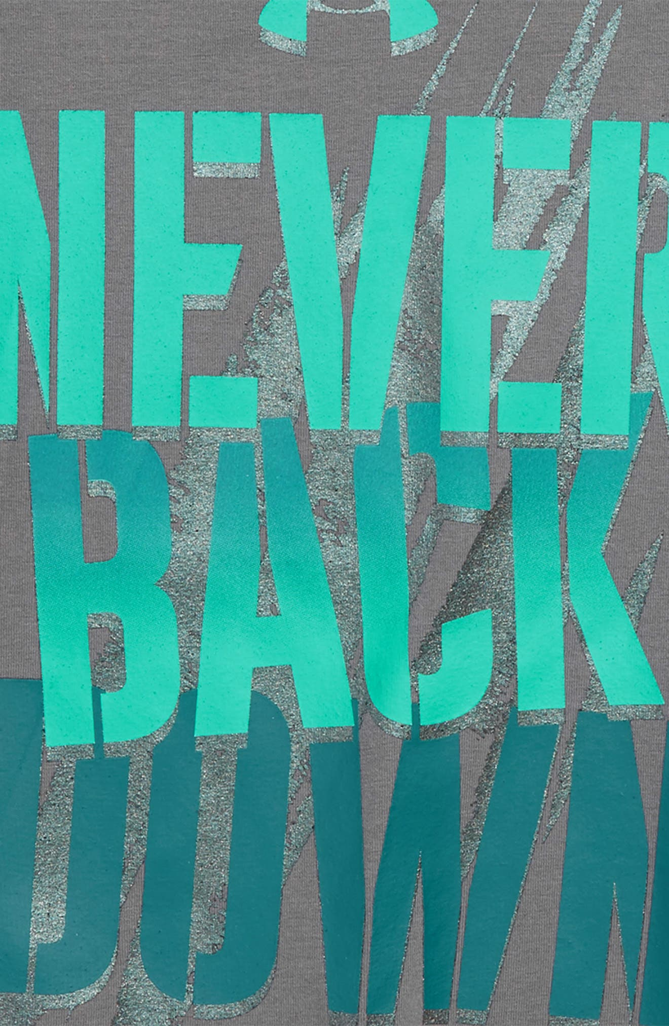Never Back Down HeatGear<sup>®</sup> Graphic T-Shirt,                             Alternate thumbnail 5, color,