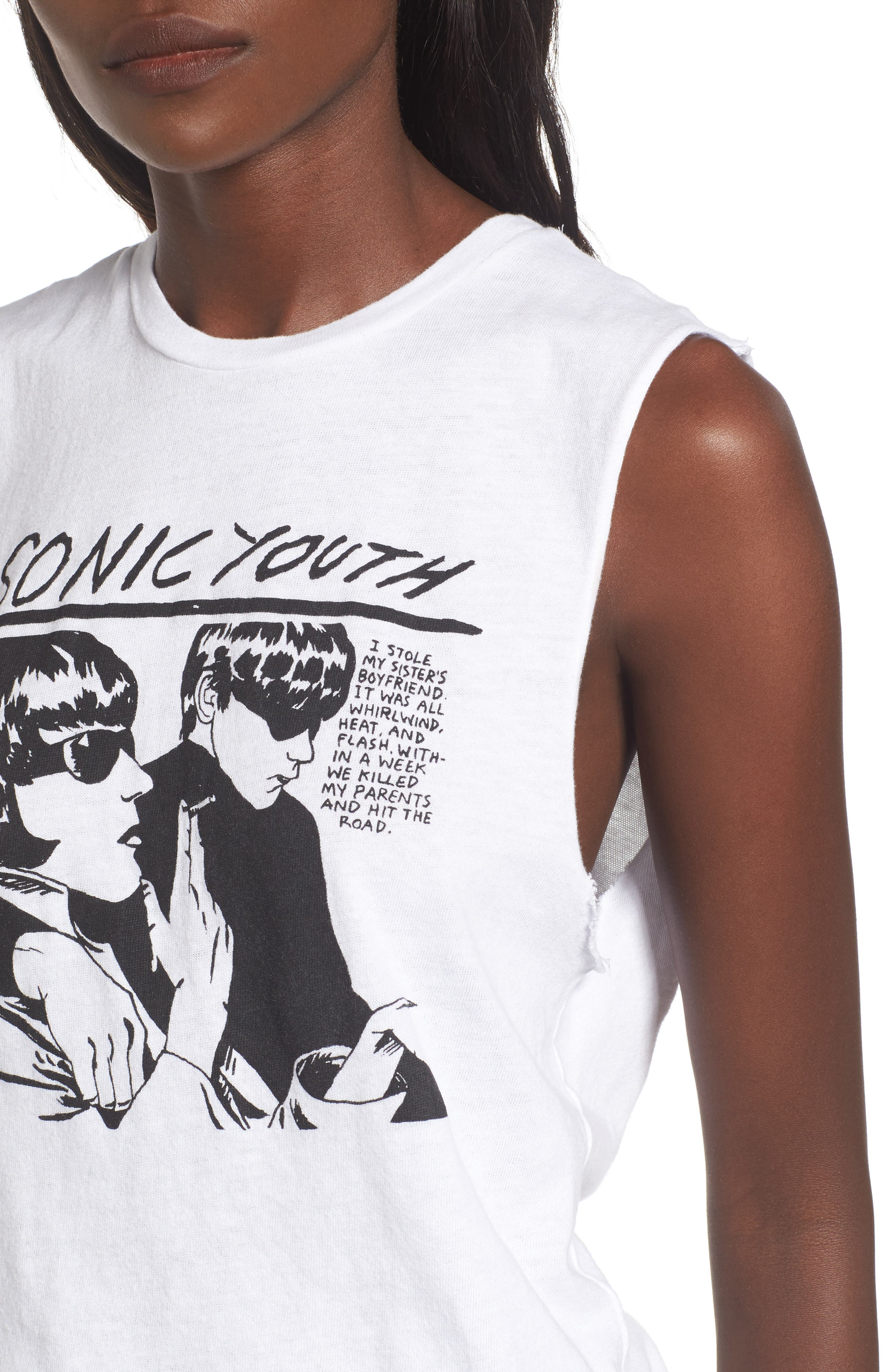 by And Finally Sonic Youth Graphic Tank,                             Alternate thumbnail 4, color,                             100