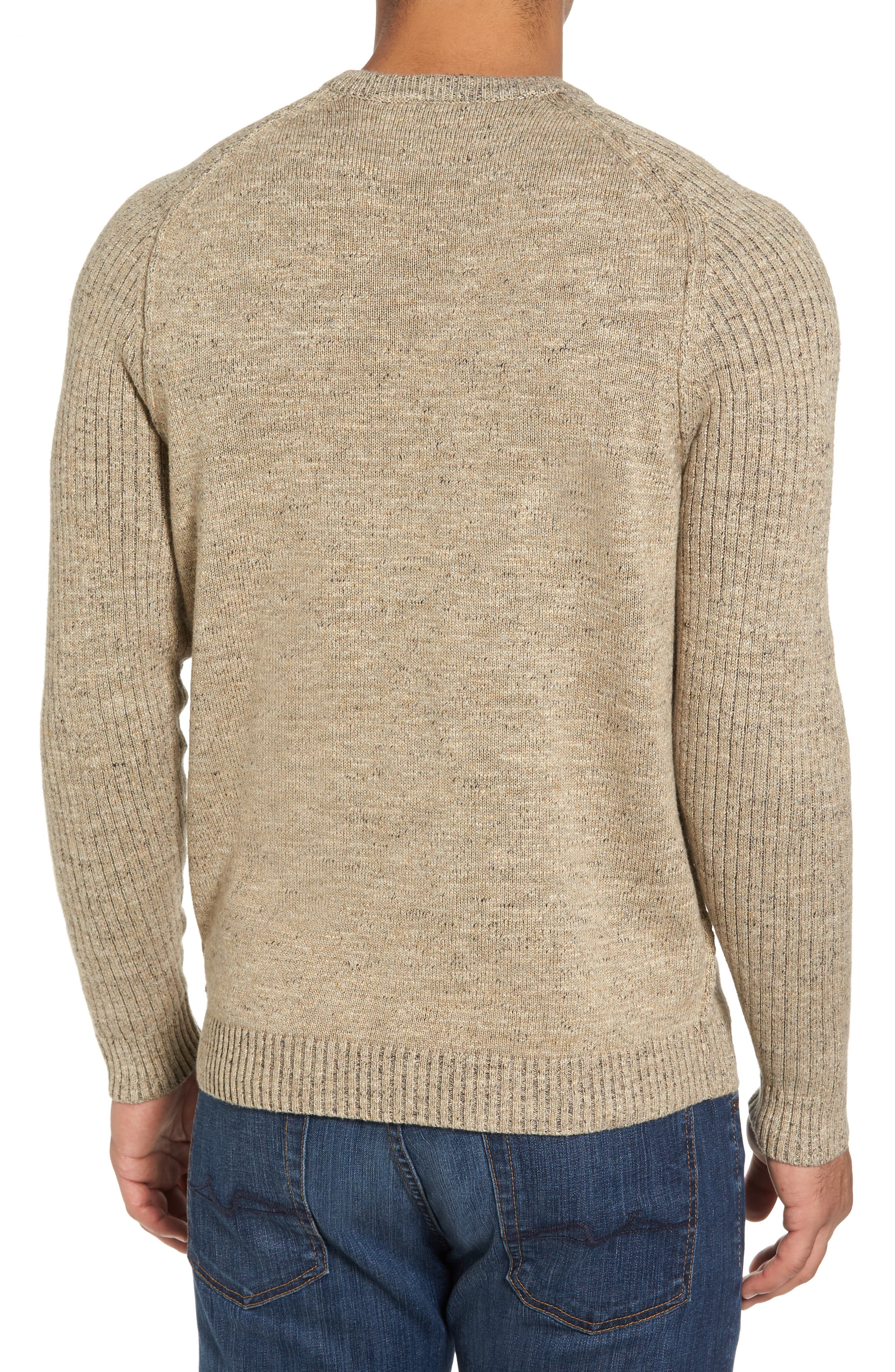 Gran Rey Flip Reversible Cotton & Wool Sweater,                             Alternate thumbnail 4, color,