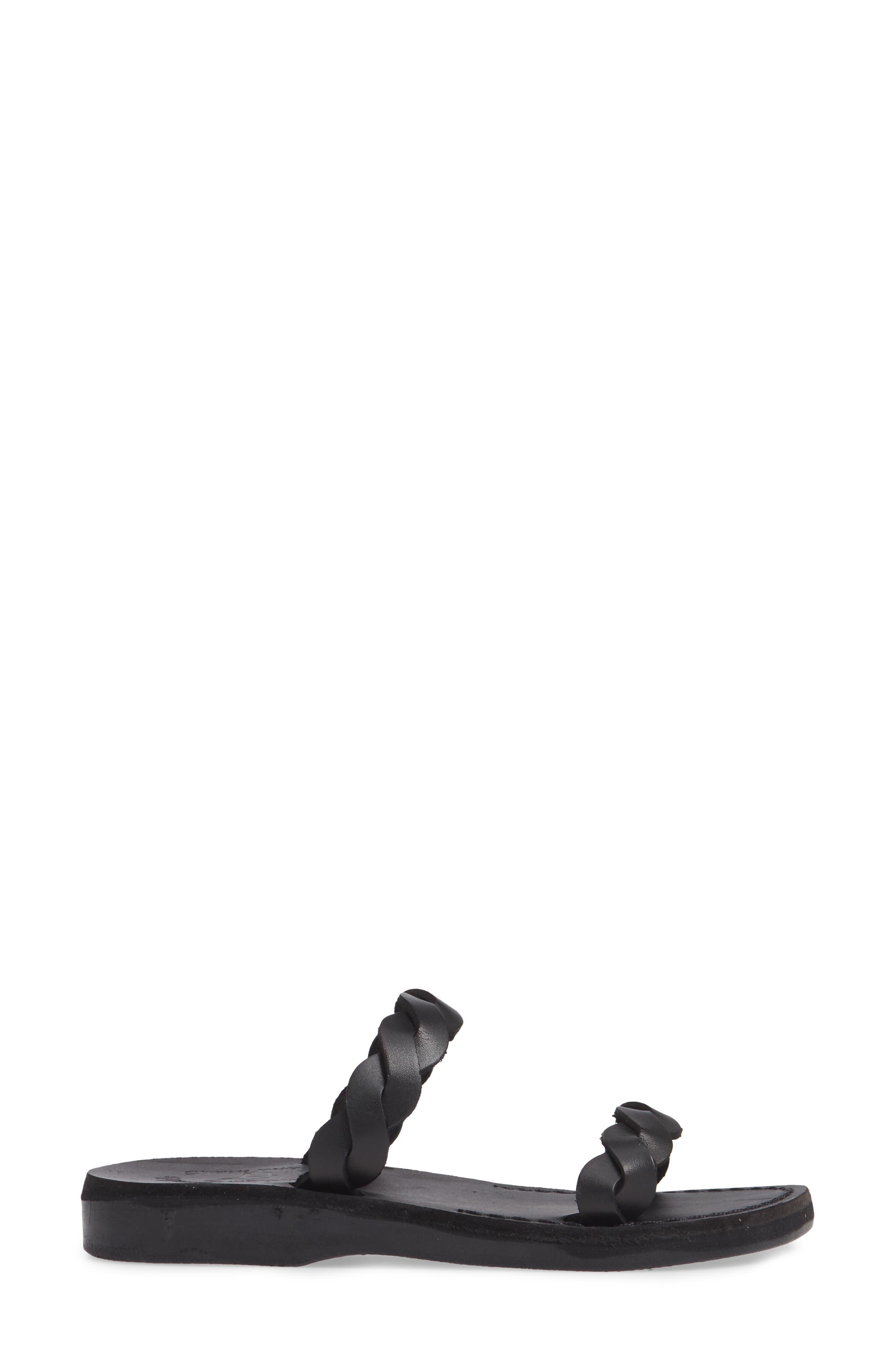 Joanna Sandal,                             Alternate thumbnail 3, color,                             BLACK LEATHER