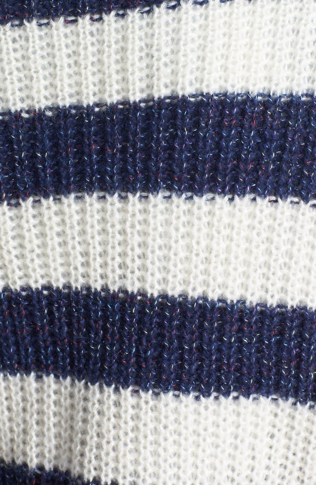 Stripe Ribbed Pullover,                             Alternate thumbnail 2, color,                             400