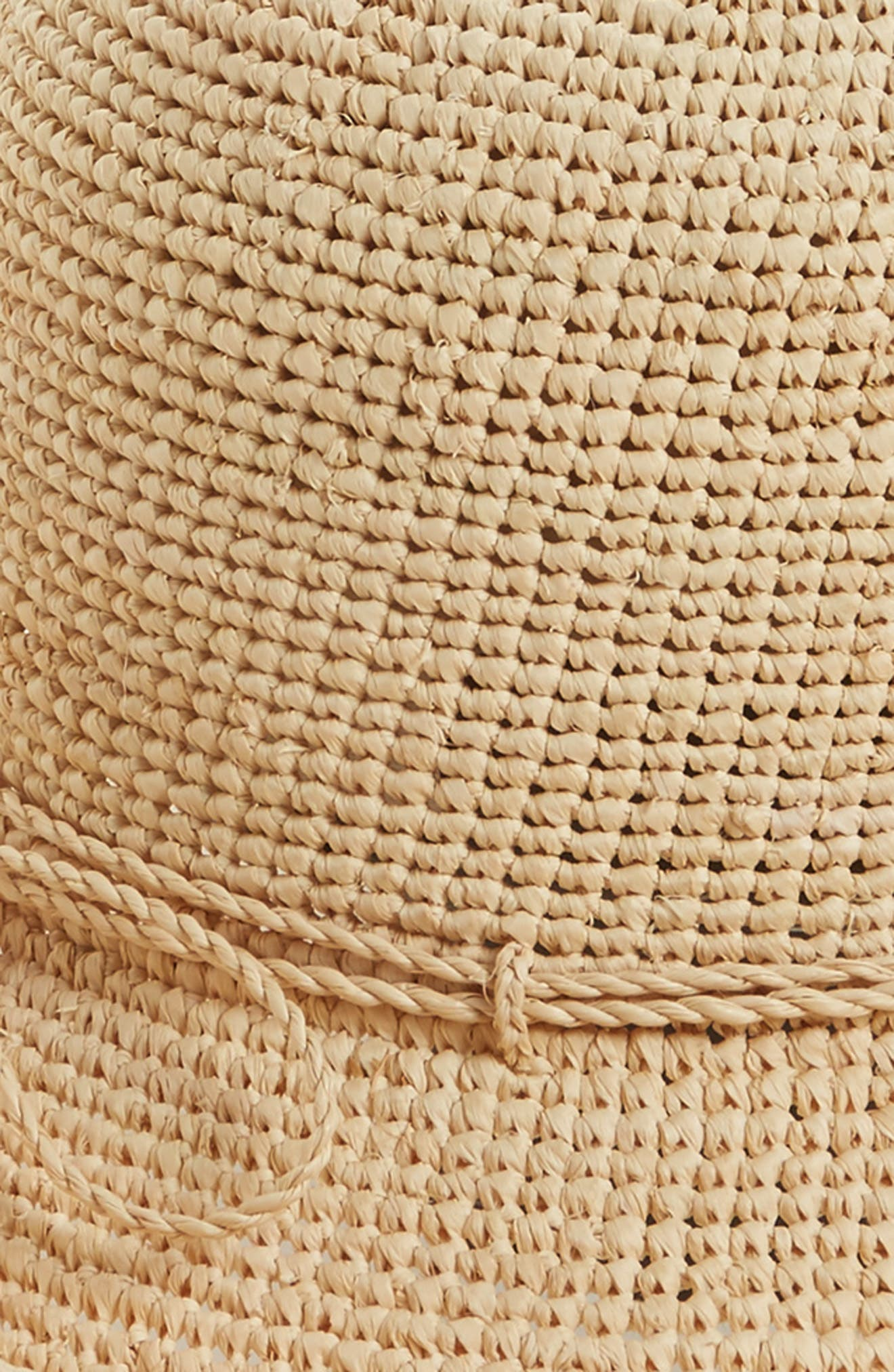 HELEN KAMINSKI,                             'Provence 12' Packable Raffia Hat,                             Alternate thumbnail 3, color,                             NATURAL